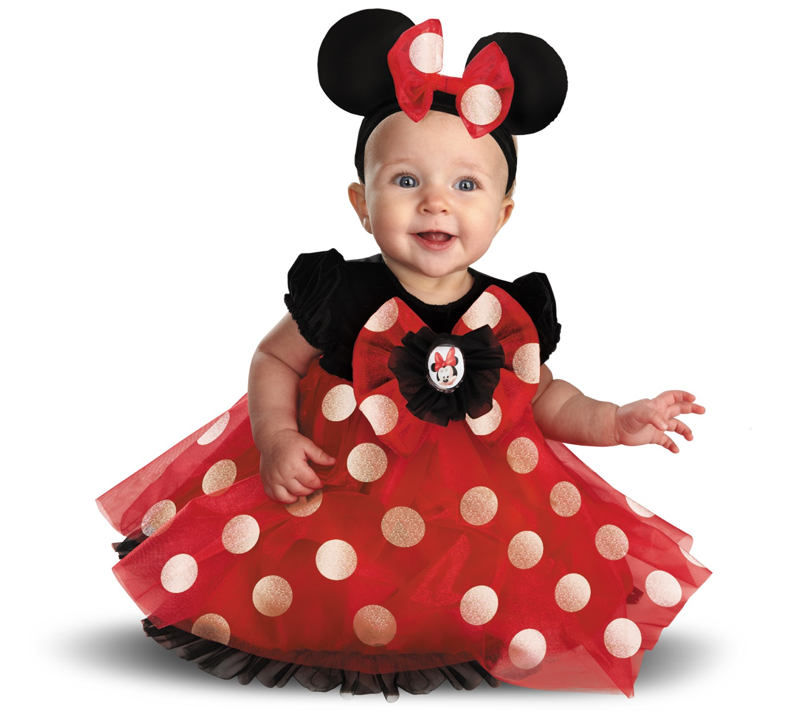 Disney Red Minnie Mouse Infant Costume 6/12 Months