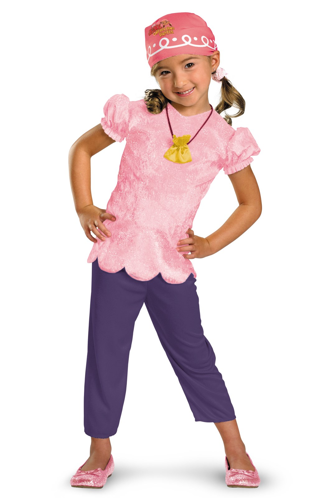 Disney Jake and the Never Land Pirates Izzy Classic Kids Costume 4/6x