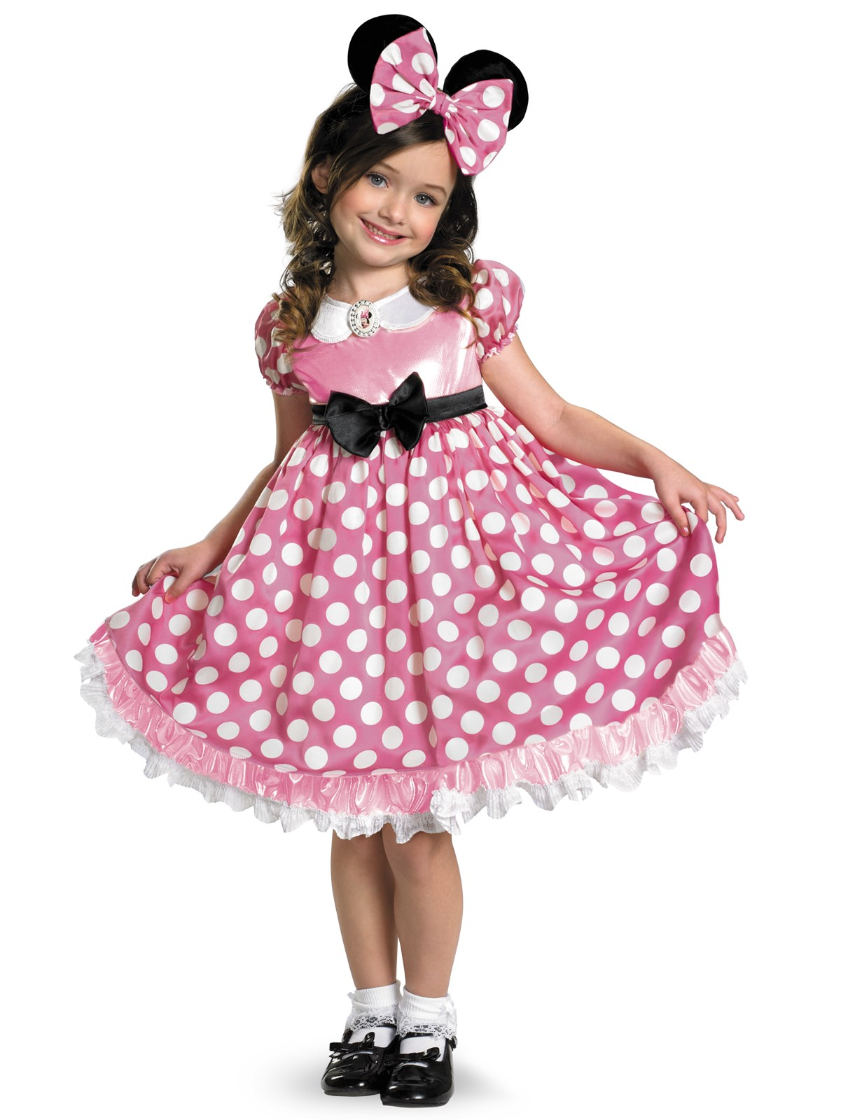 Disney Mickey Mouse Clubhouse Pink Minnie Mouse Glow in the Dark Toddler Costume 3T/4T