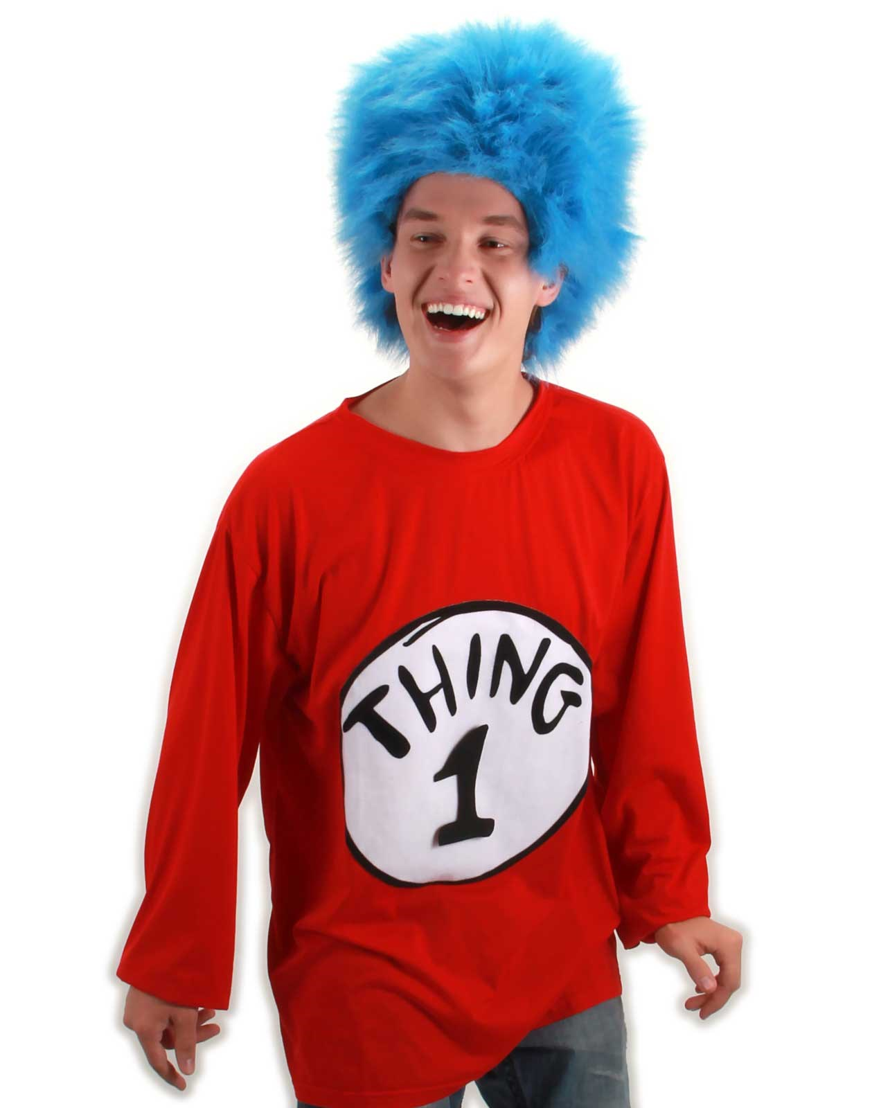 Dr. Seuss Thing 1 Plus Adult Costume Kit XX-Large