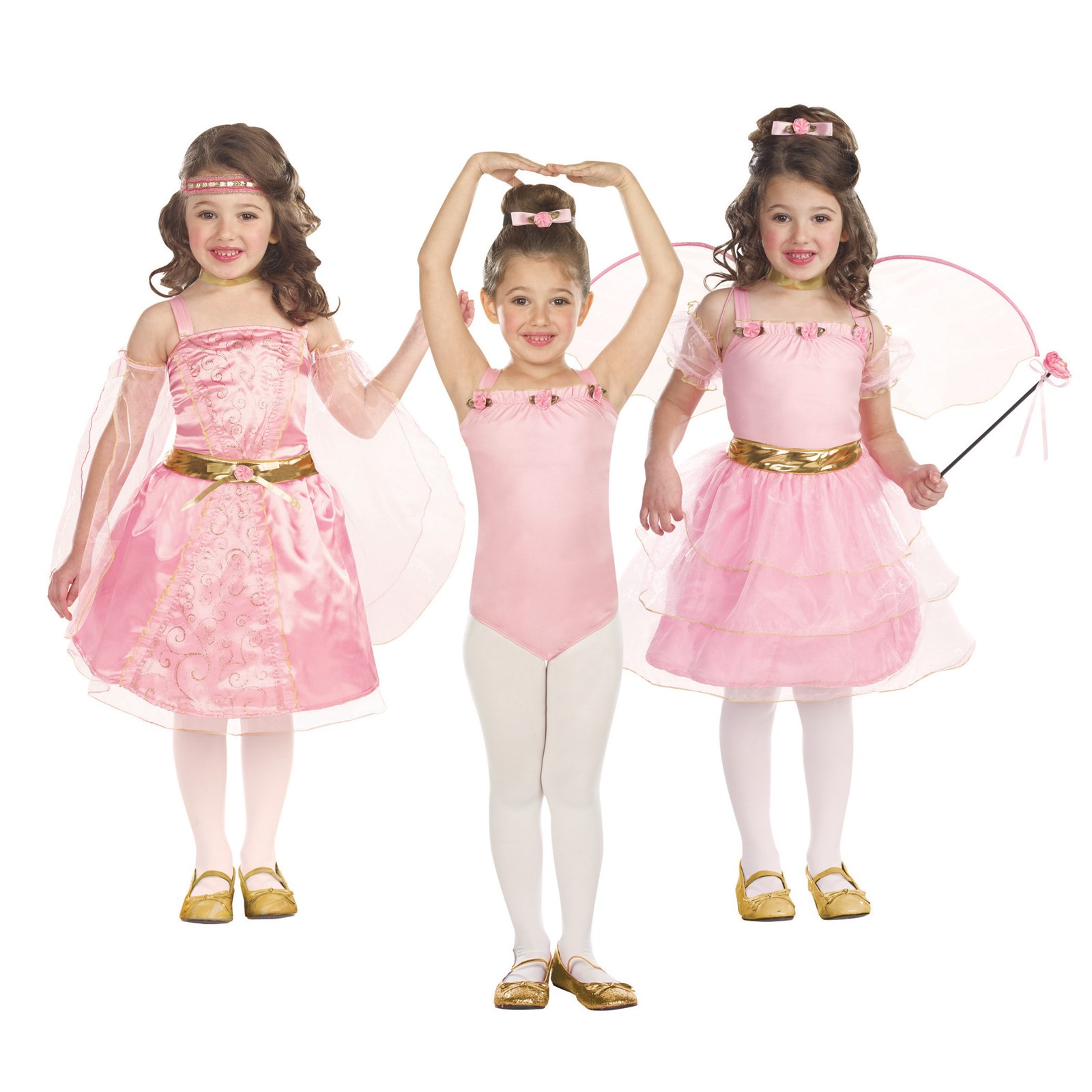3-in-1 Renaissance Princess / Ballerina / Flower Fairy Child Costume X-Small