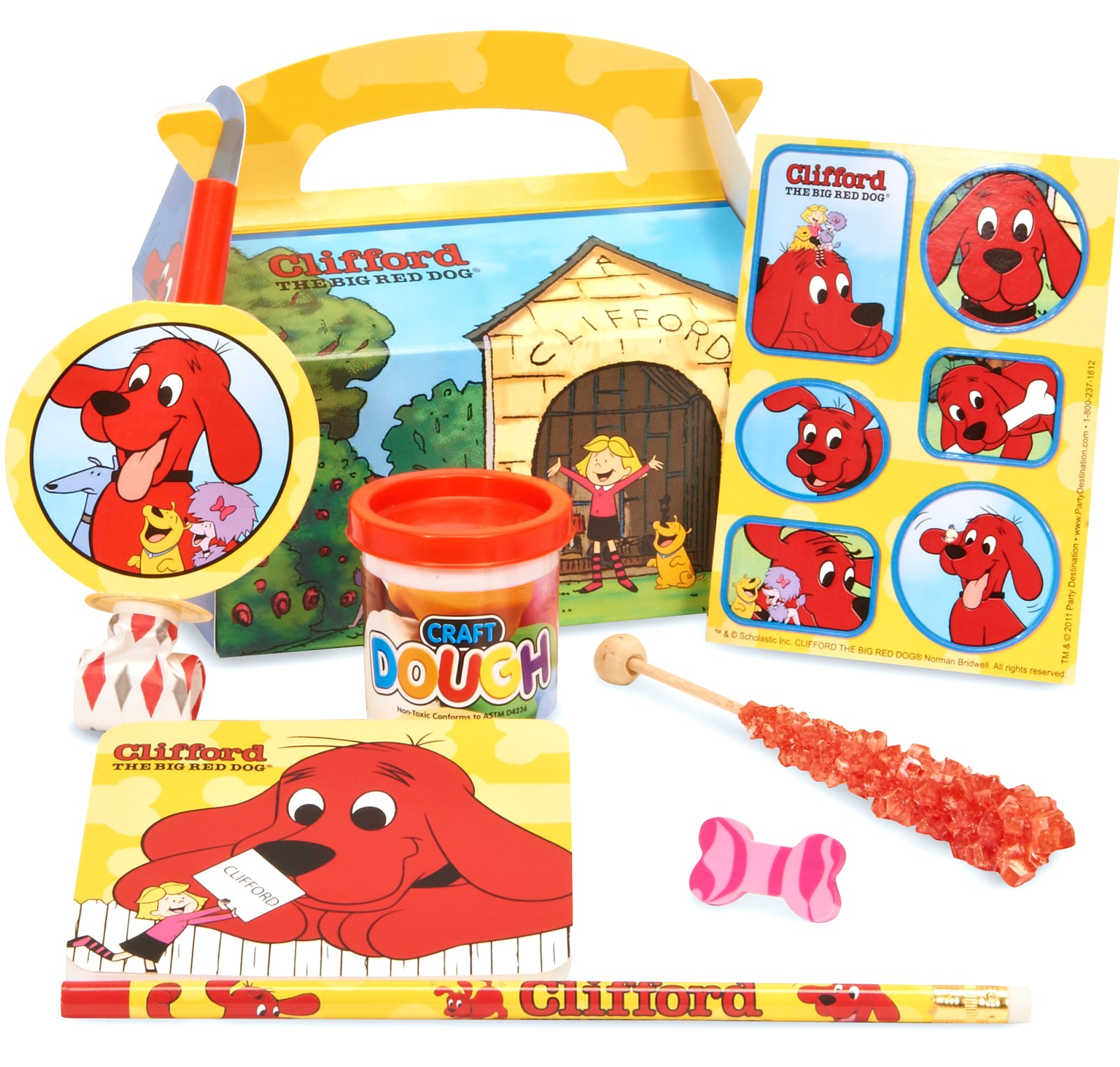 Clifford The Big Red Dog Filled Party Favor Box