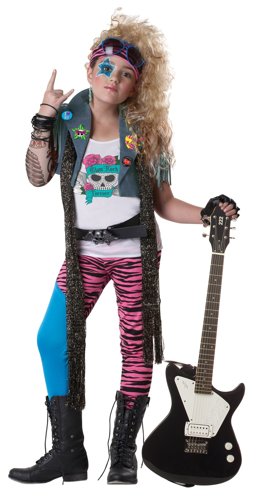 80's Glam Rocker Kids Costume Small (6-8)
