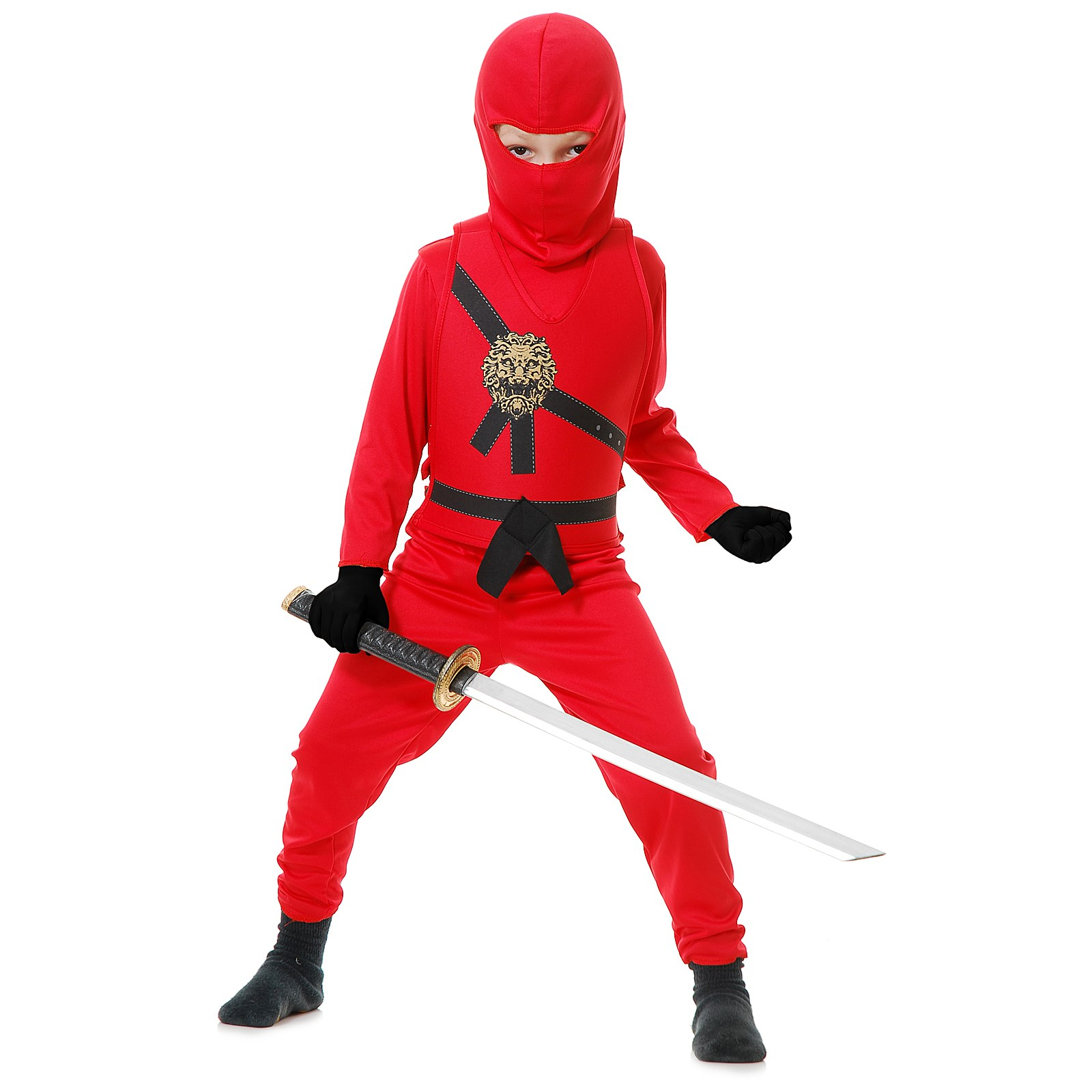 Red Ninja Kids Costume Medium (8/10)