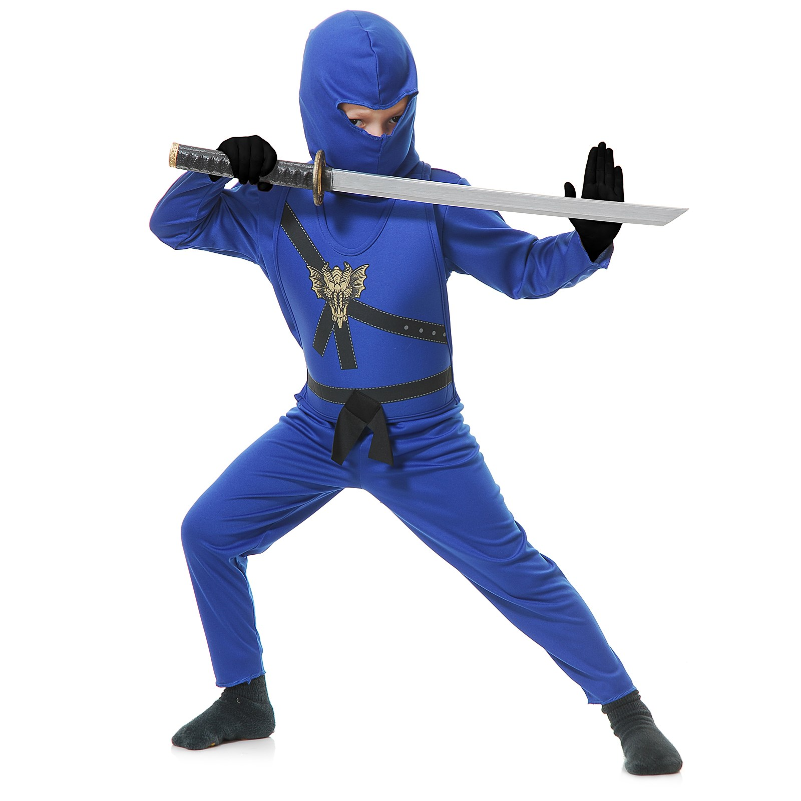 Blue Ninja Toddler Costume 2/4T