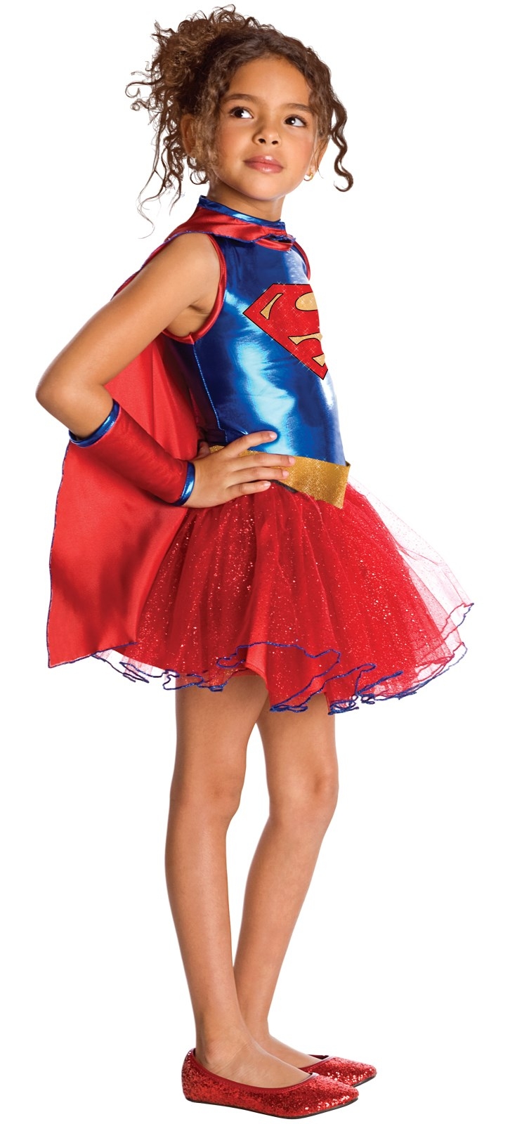 Supergirl Tutu Kids Costume Small (4-6)