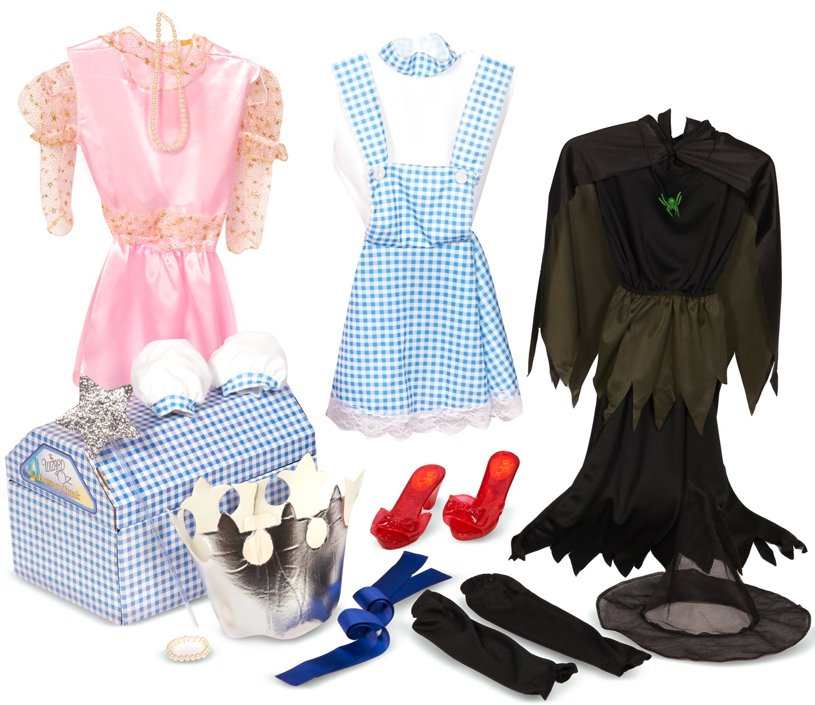 The Wizard of Oz Dress Up Trunk Kids Costume Kits One-Size