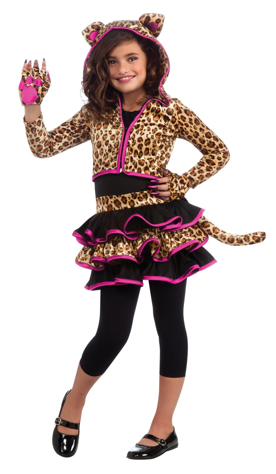 Leopard Hoodie Kids Costume Small (4-6)