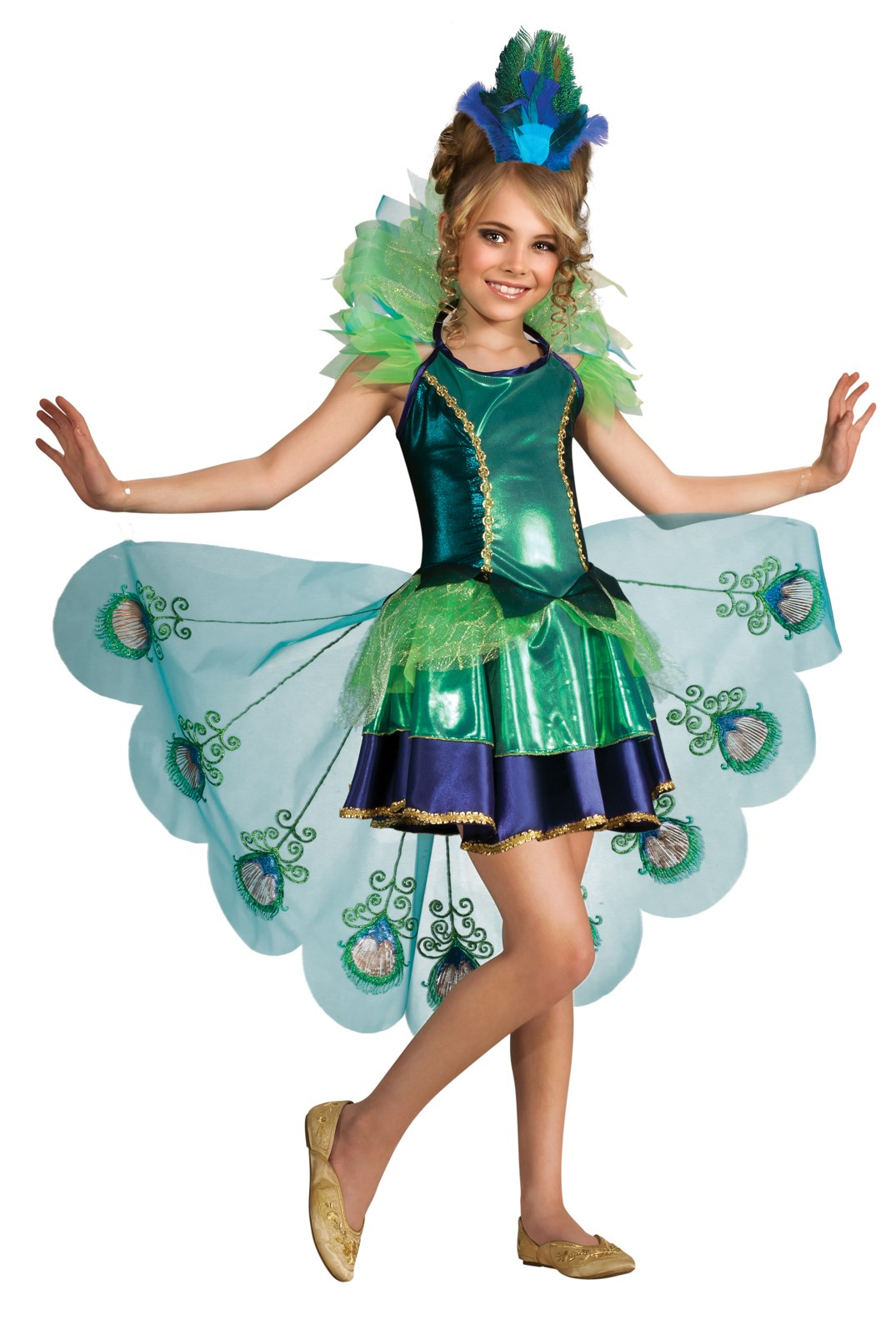Peacock Girl Child Costume Large (12/14)
