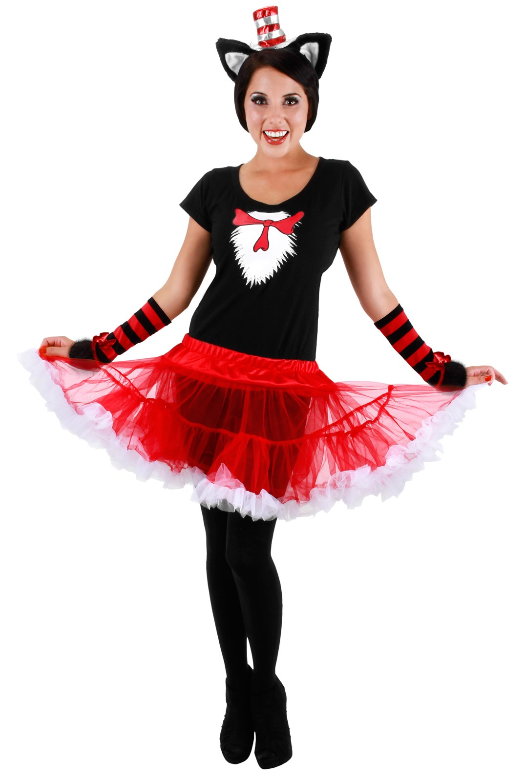 Cat In The Hat Tutu Adult Costume Large/XLarge