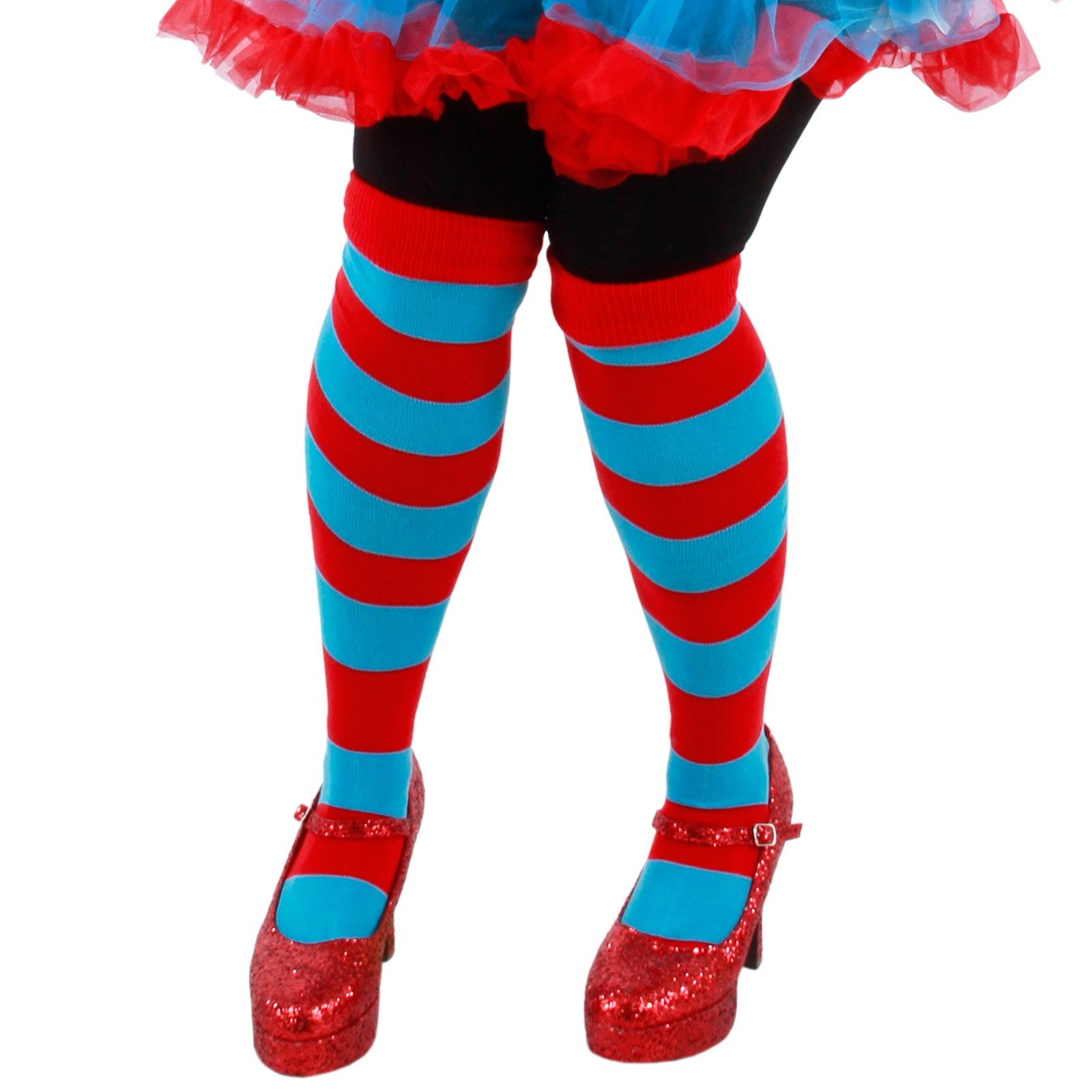 Cat In The Hat Thing 1 And Thing 2 Striped Knee Highs One-Size