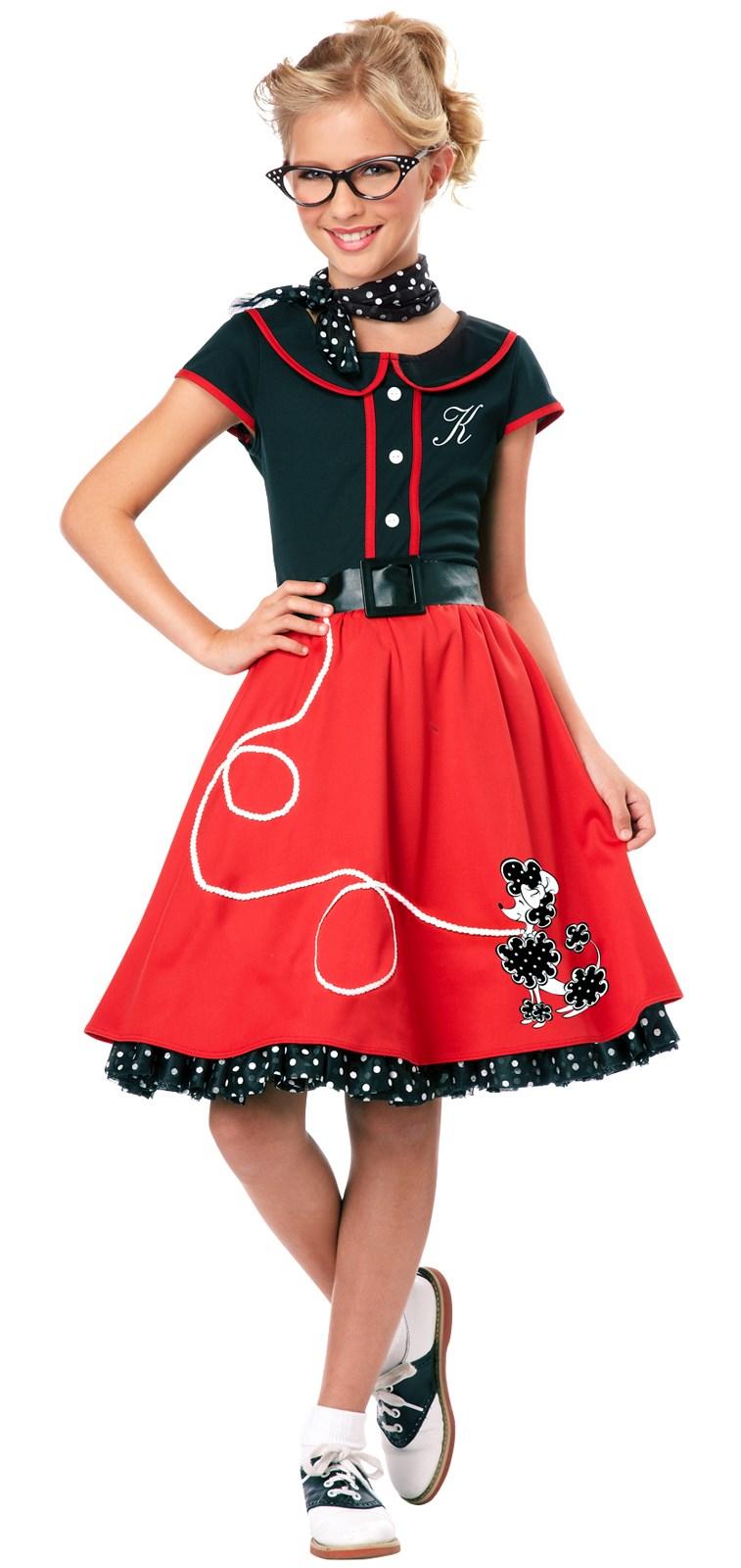 Image of 50's Sweetheart Child Costume Medium (8-10)