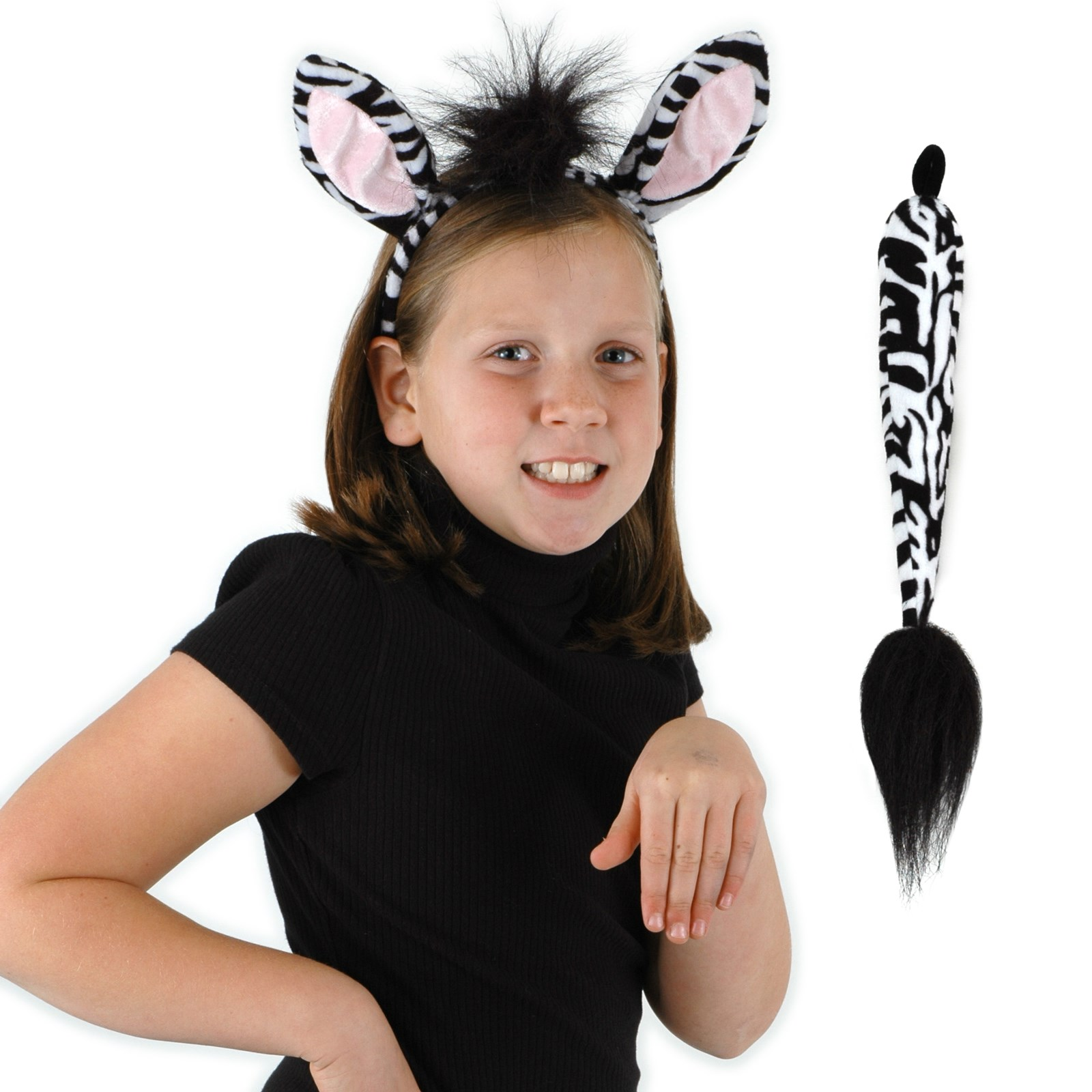 Zebra Ears and Tail Kit One-Size