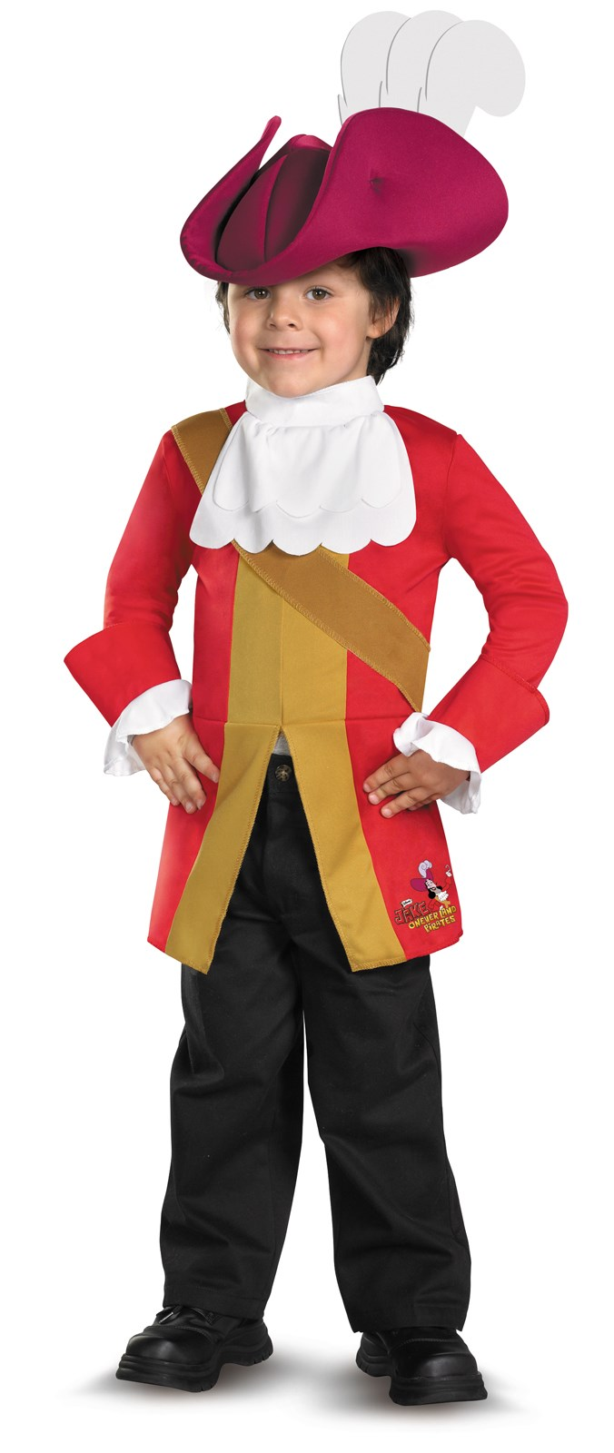 Disney Jake And The Neverland Pirates Captain Hook Toddler / Child Costume 3T-4T