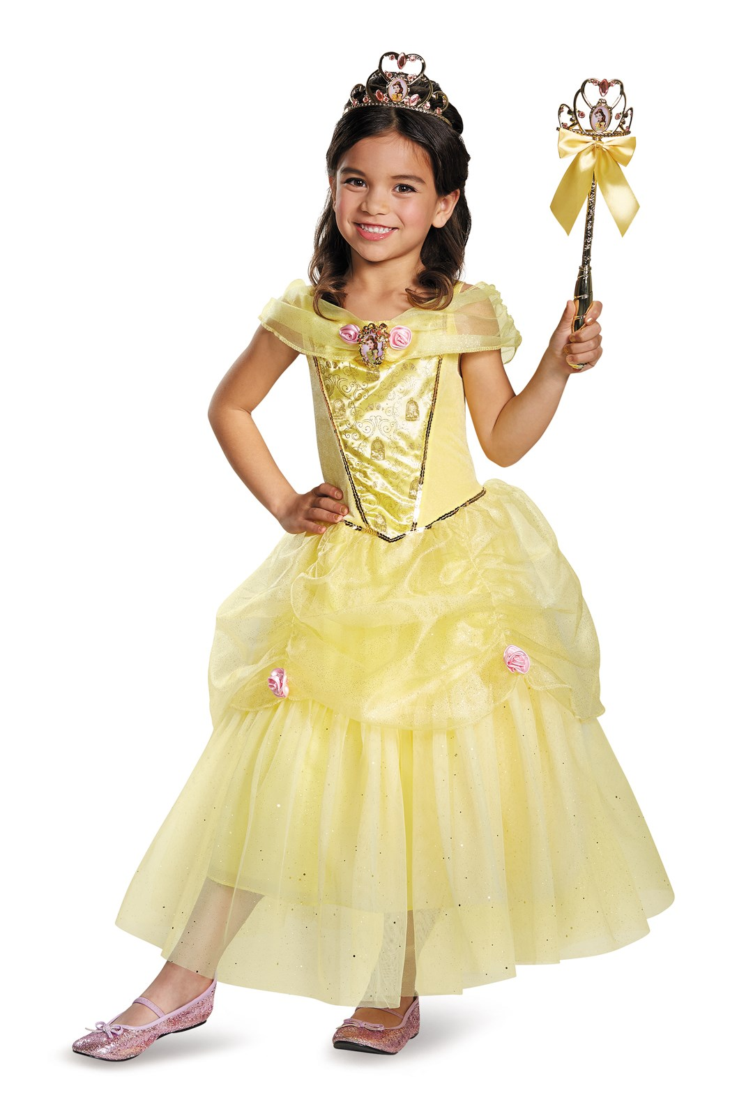 Disney Belle Deluxe Sparkle Toddler / Child Costume 7-8