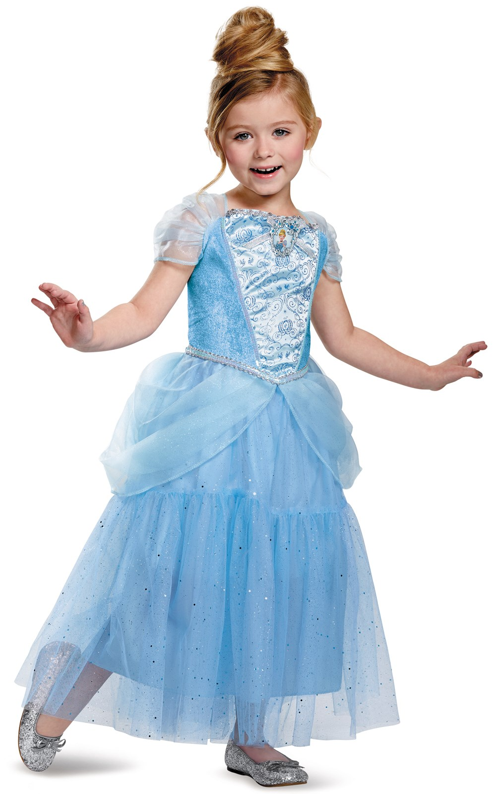 Disney Cinderella Deluxe Sparkle Toddler / Child Costume 3T-4T