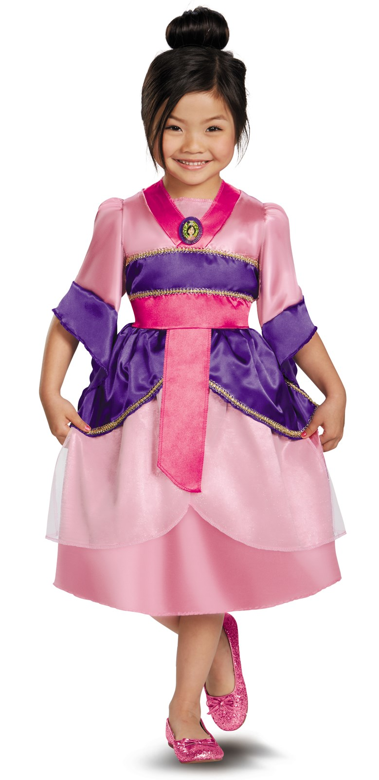 Disney Mulan Sparkle Toddler / Child Costume 3T-4T