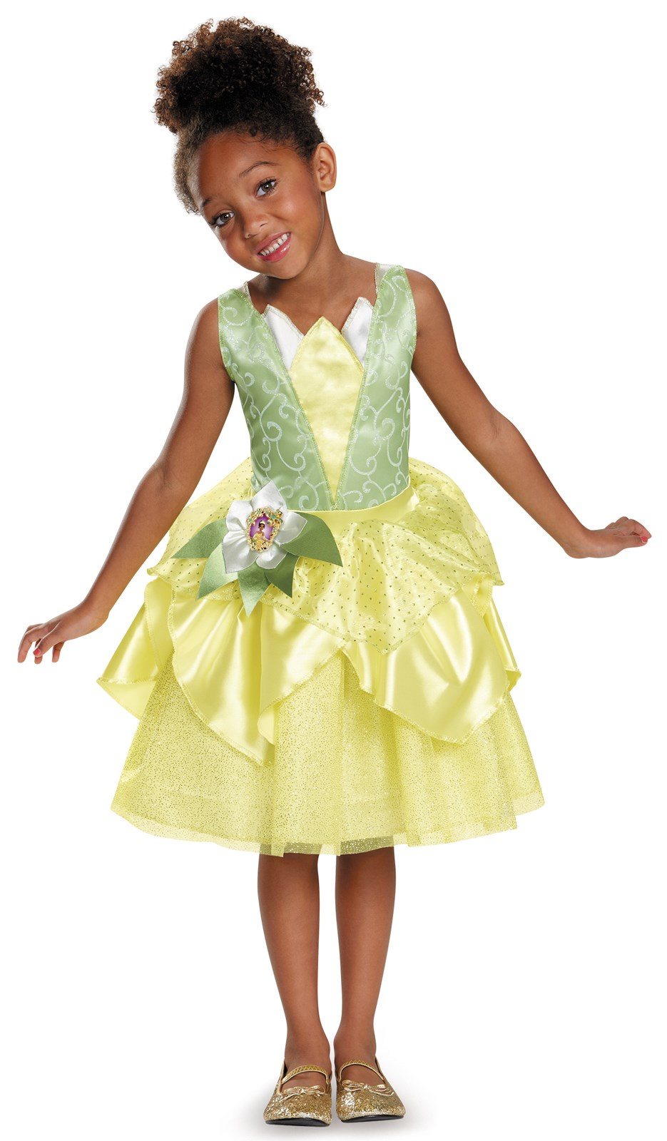 Disney Tiana Deluxe Sparkle Toddler / Child Costume 7-8