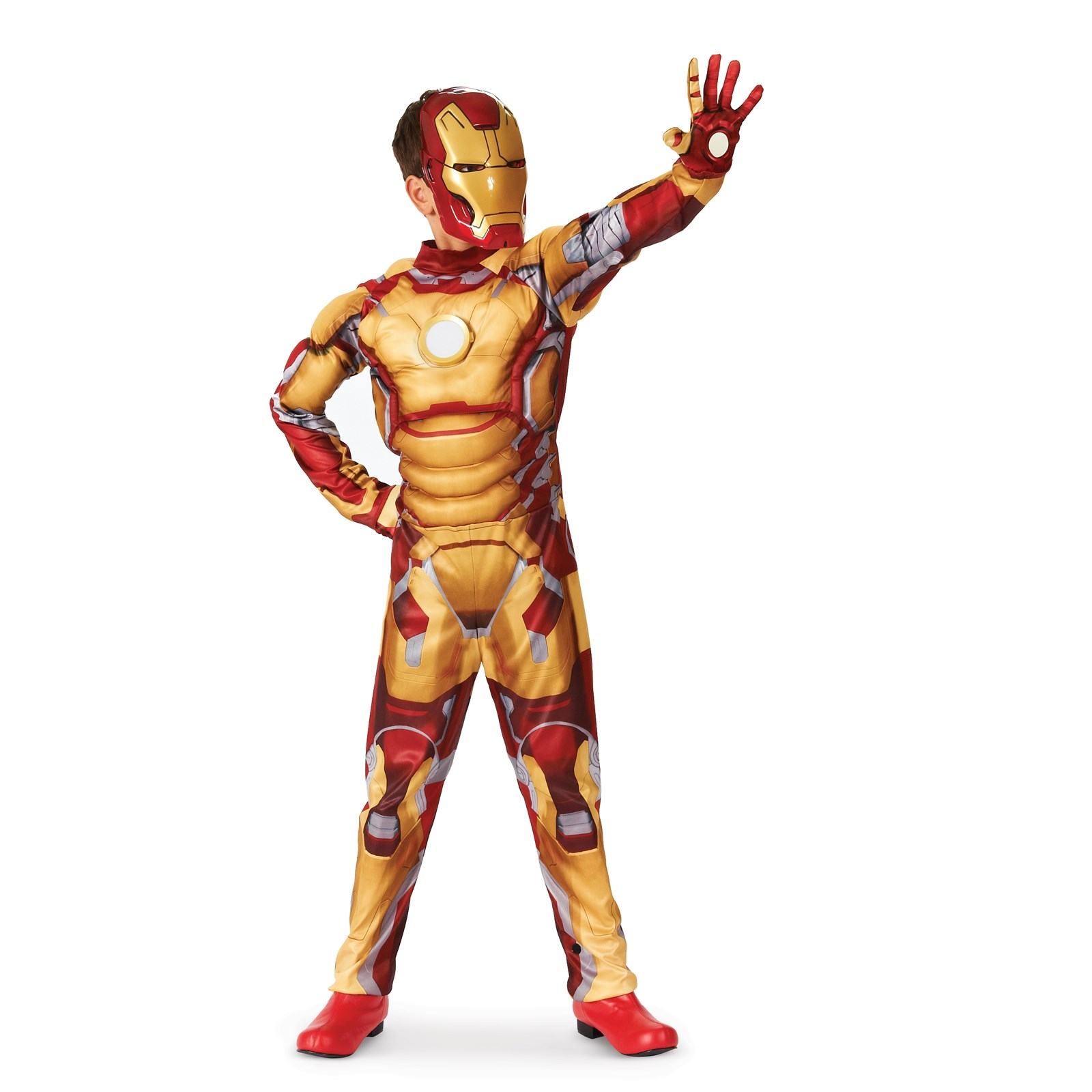 Iron Man 3 Mark 42 Muscle Light Up Kids Costume 10-12