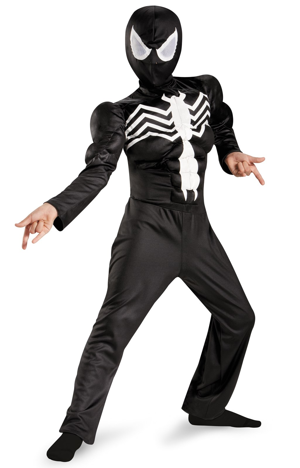 Ultimate Black Suited Spider-Man Muscle Child Costume 7-8