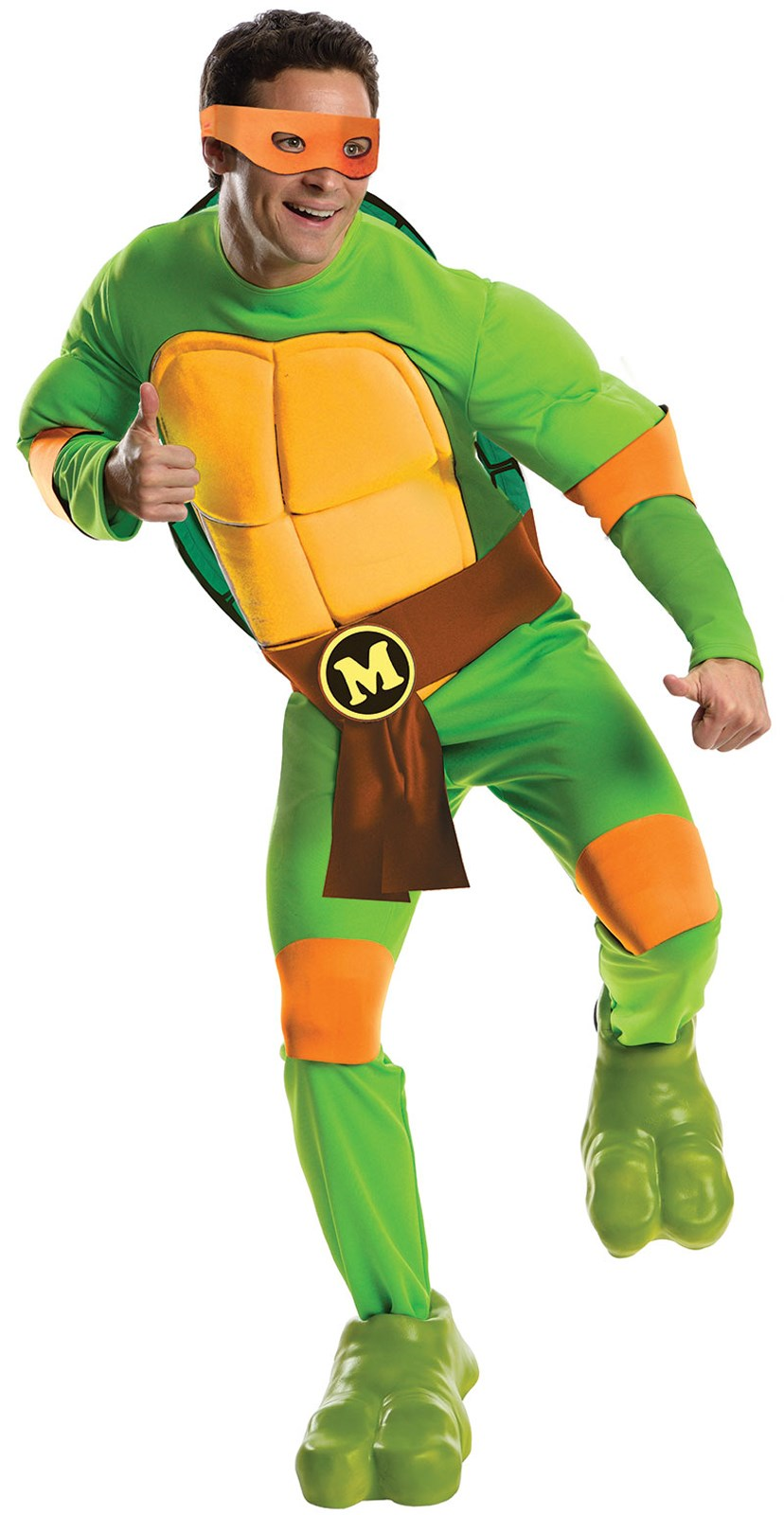 Teenage Mutant Ninja Turtles Deluxe Michelangelo Adult Costume Standard (One-Size)
