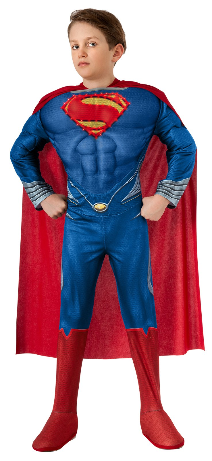 Superman Man of Steel Deluxe Light Up Child Costume Small (4-6)
