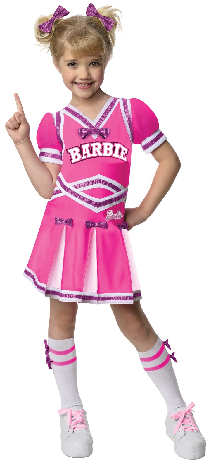 Image of Barbie Cheerleader Toddler / Child Costume Small (4-6)
