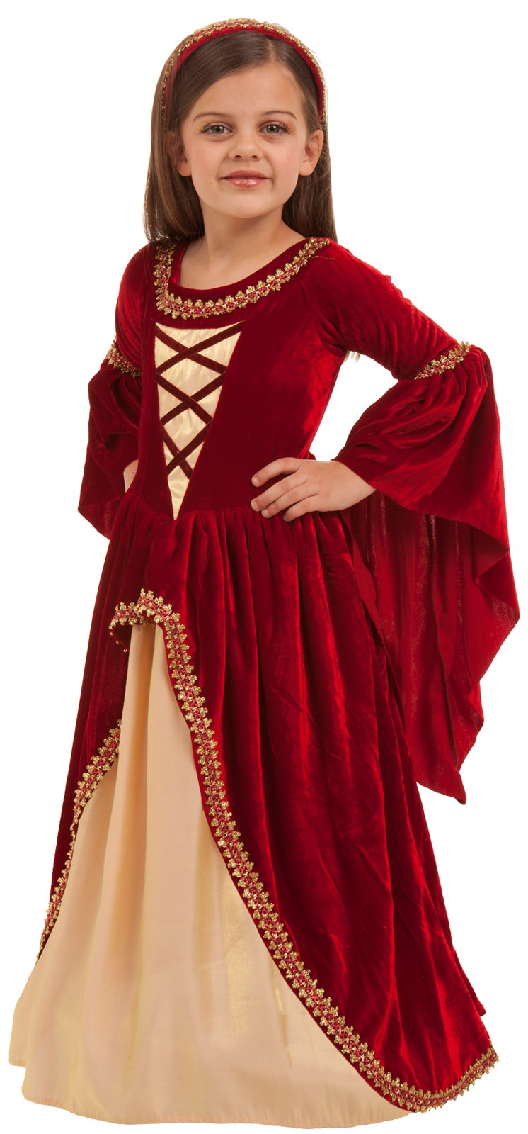 Crimson Renaissance Princess Kids Costume Small (6)