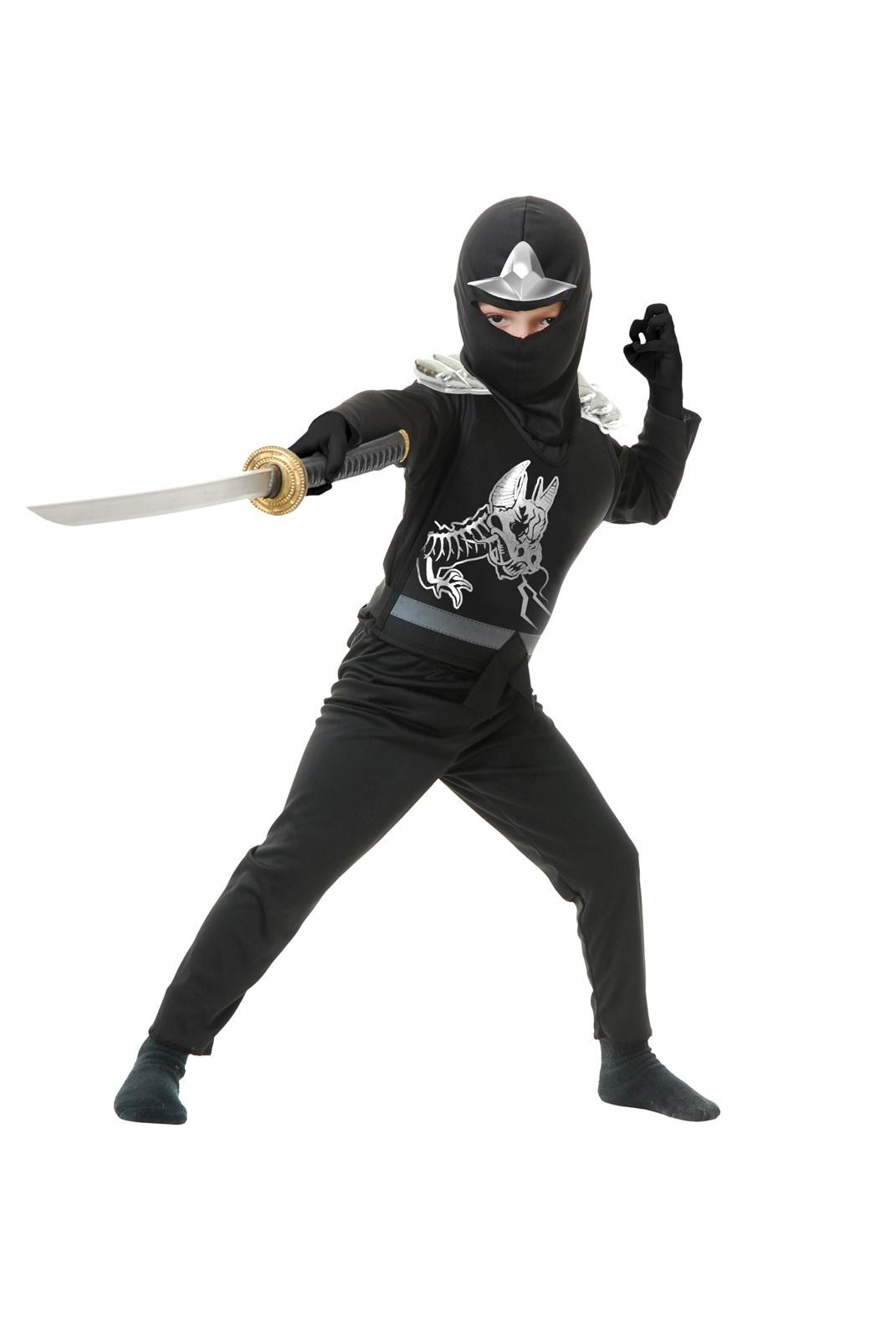 Image of Black Ninja Avengers Series II Child Costume M(8/10)