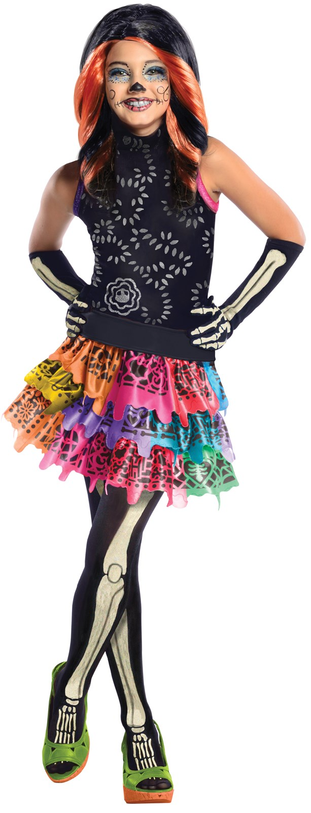 Monster High Skelita Calaveras Child Costume Large (12/14)