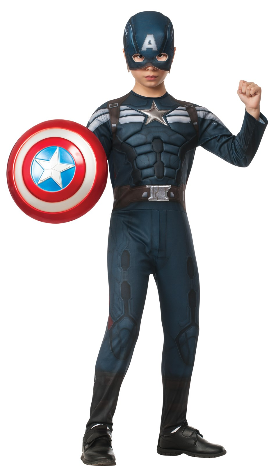 Captain America The Winter Soldier Deluxe Stealth Child Costume Medium (8/10)