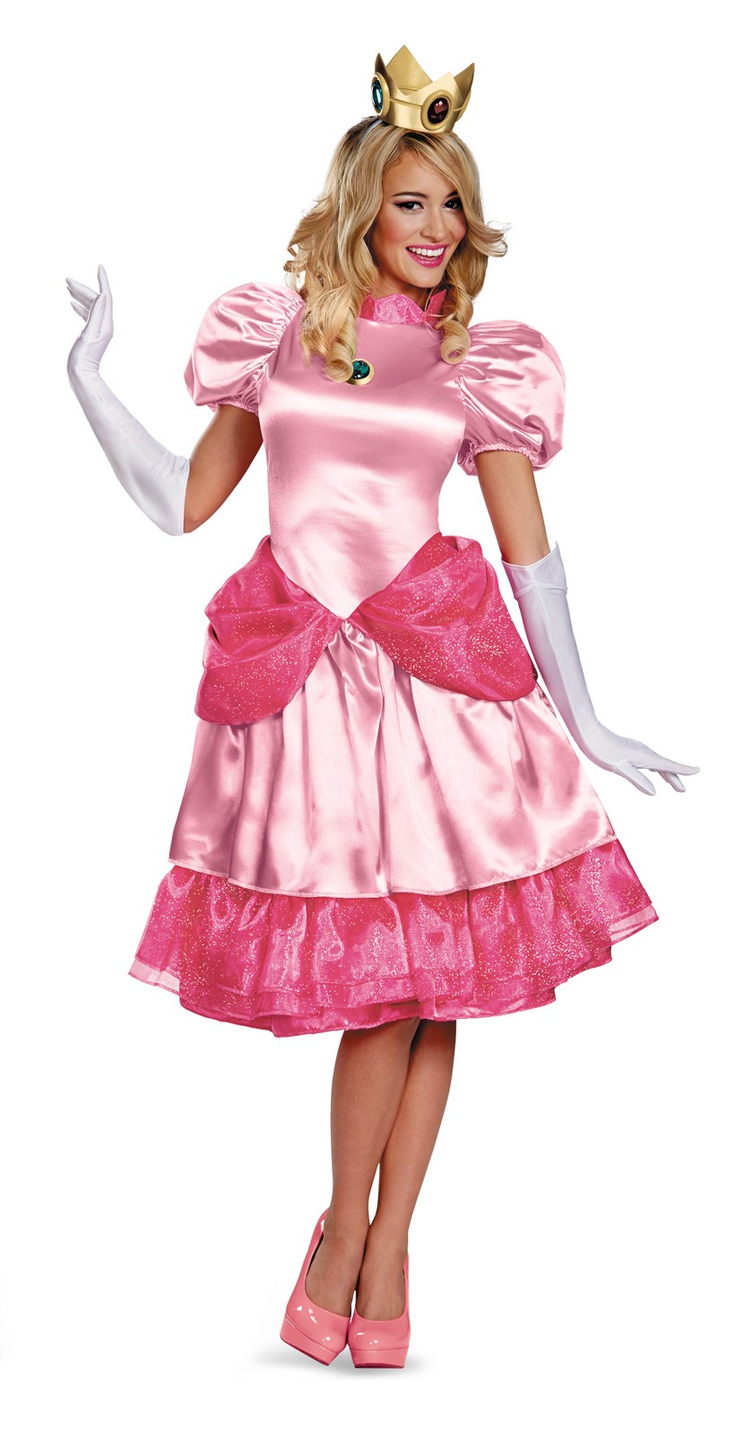 Super Mario Bros - Adult Deluxe Princess Peach Costume Medium (8-10)