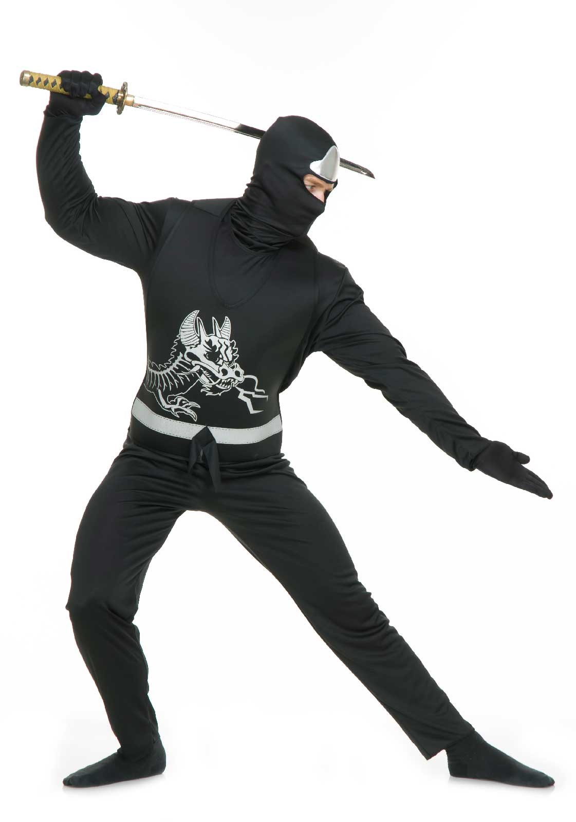 Black Ninja Avengers Series II Mens Costume X-Large