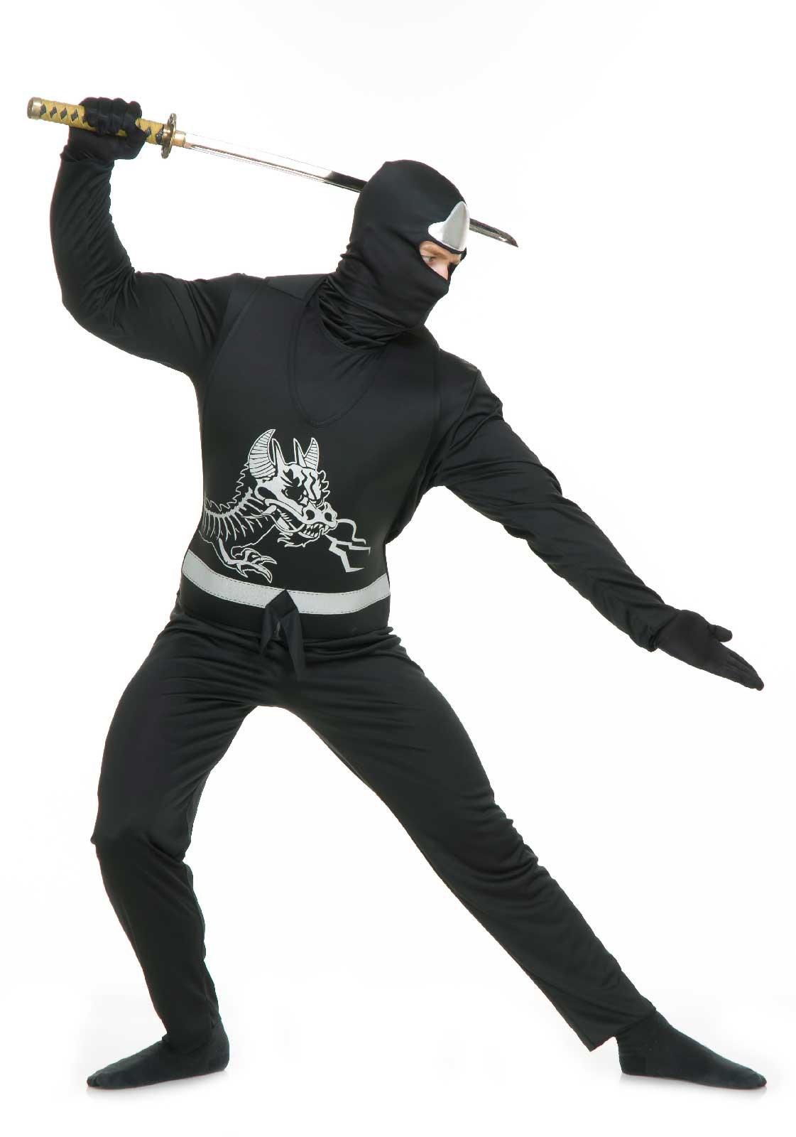 Image of Black Ninja Avengers Series II Mens Costume Large