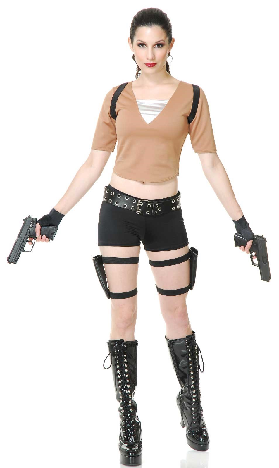Tough Adult Tomb Fighter Costume X-Small