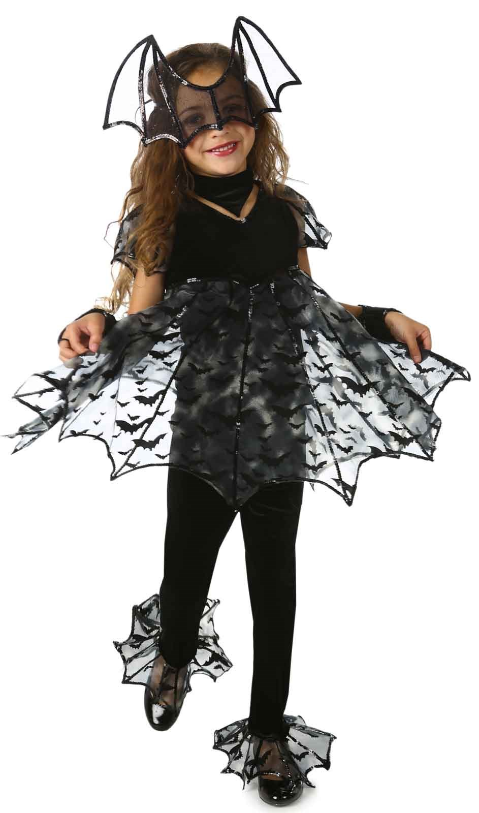 Image of Deluxe Bat Girls Costume Small (6)