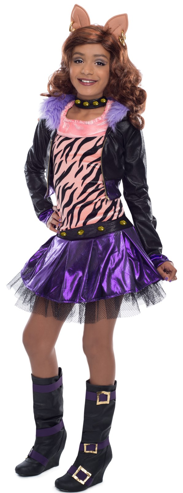 Deluxe Monster High Clawdeen Wolf Girls Costume Large (10)