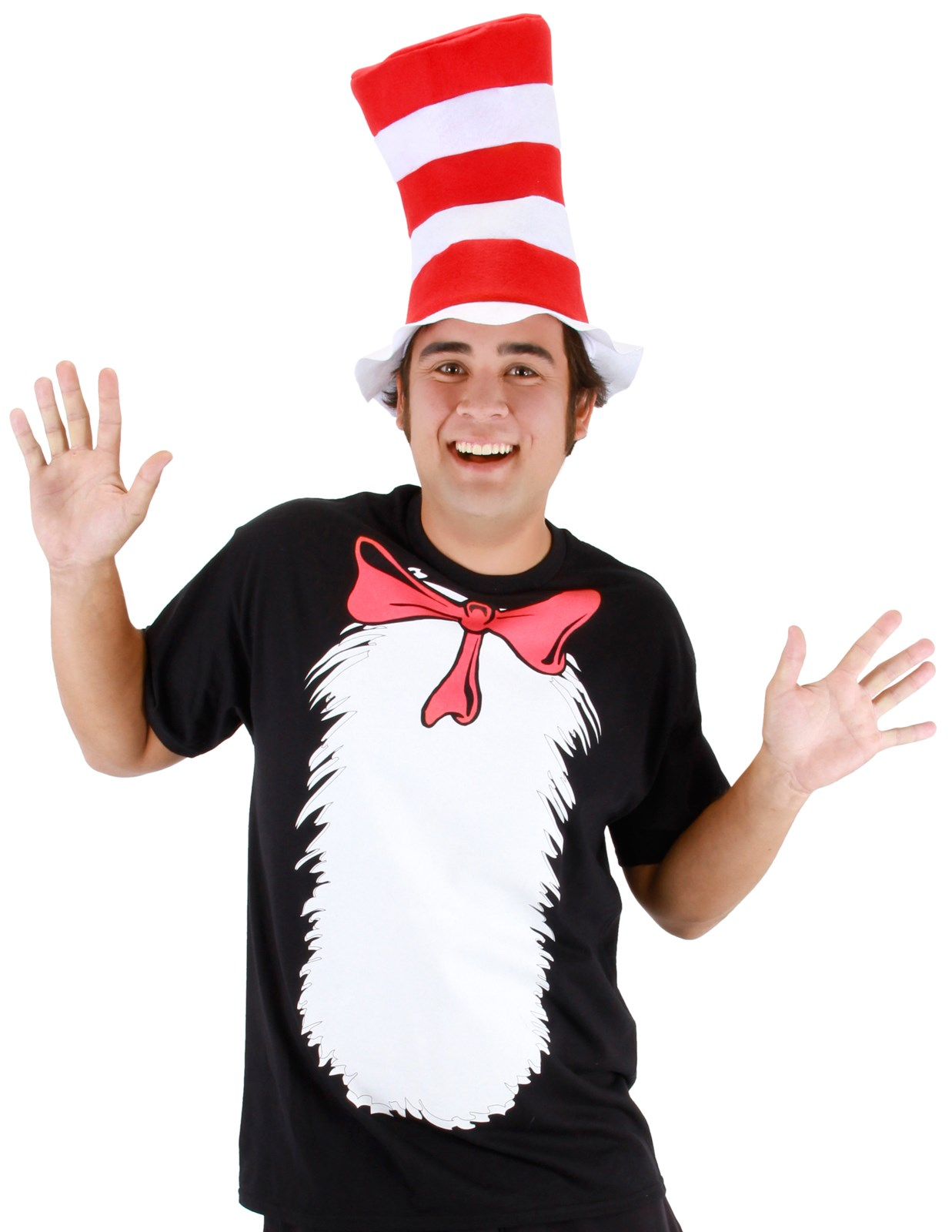 Cat in the Hat T-Shirt and Hat Adult Costume Medium
