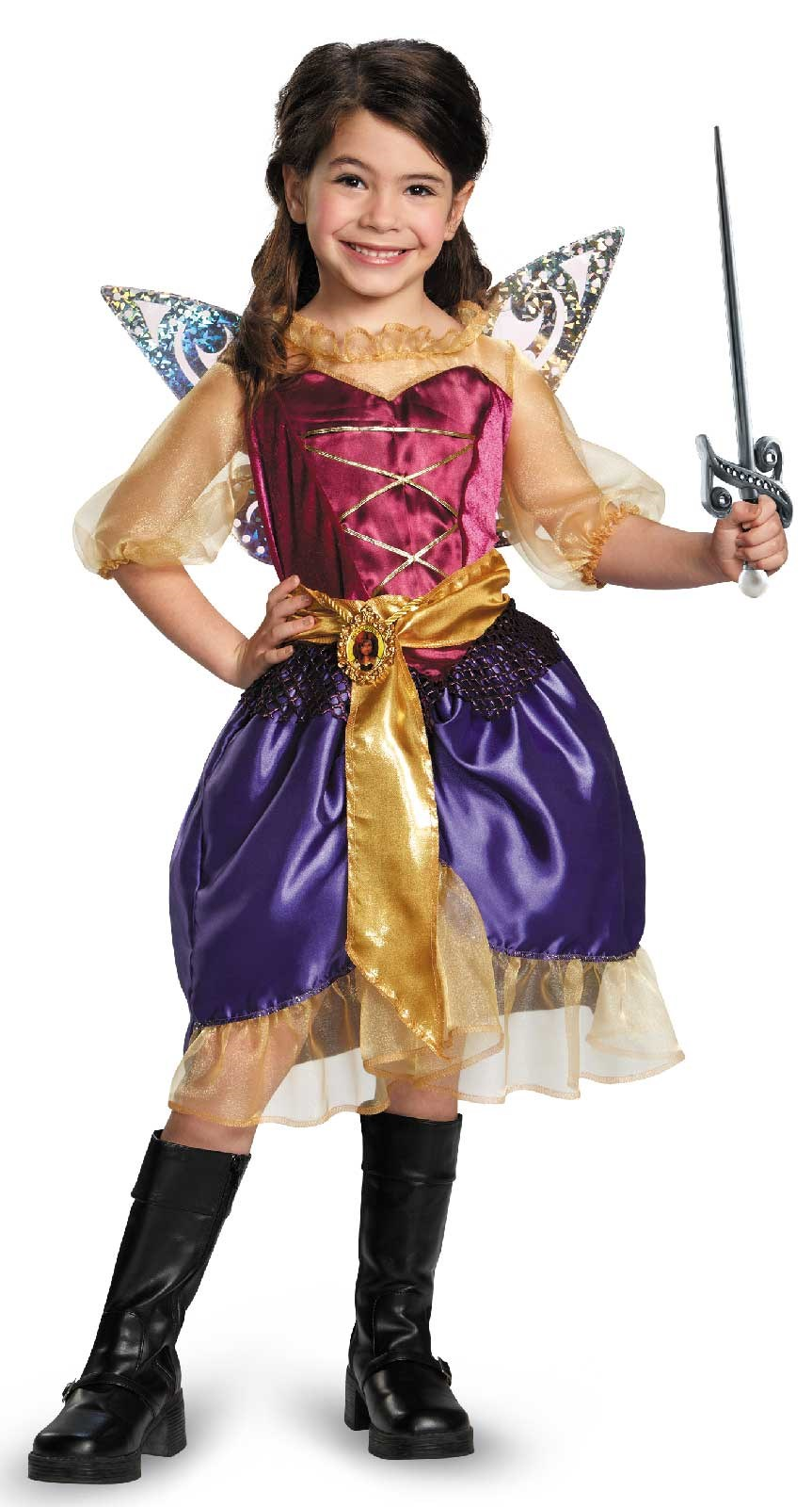 Tinker Bell and The Pirate Fairy - Pirate Zarina Girls Costume 10-12