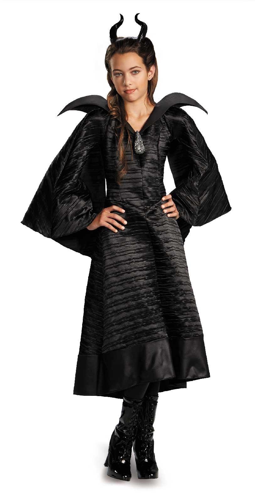 Image of Maleficent Deluxe Christening Black Dress Girls Costume
