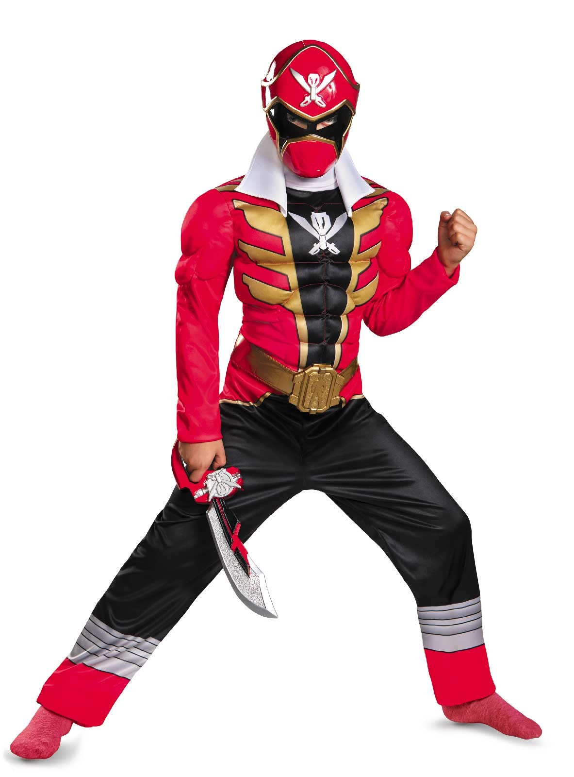 Power Ranger Super Megaforce Red Ranger Muscle Child Costume Large (10-12)