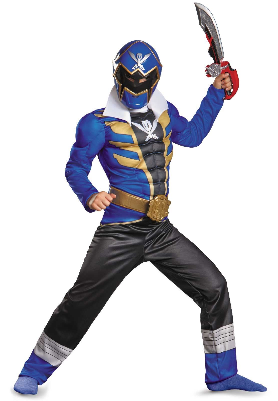 Power Ranger Super Megaforce Blue Ranger Muscle Child Costume Large (10-12)