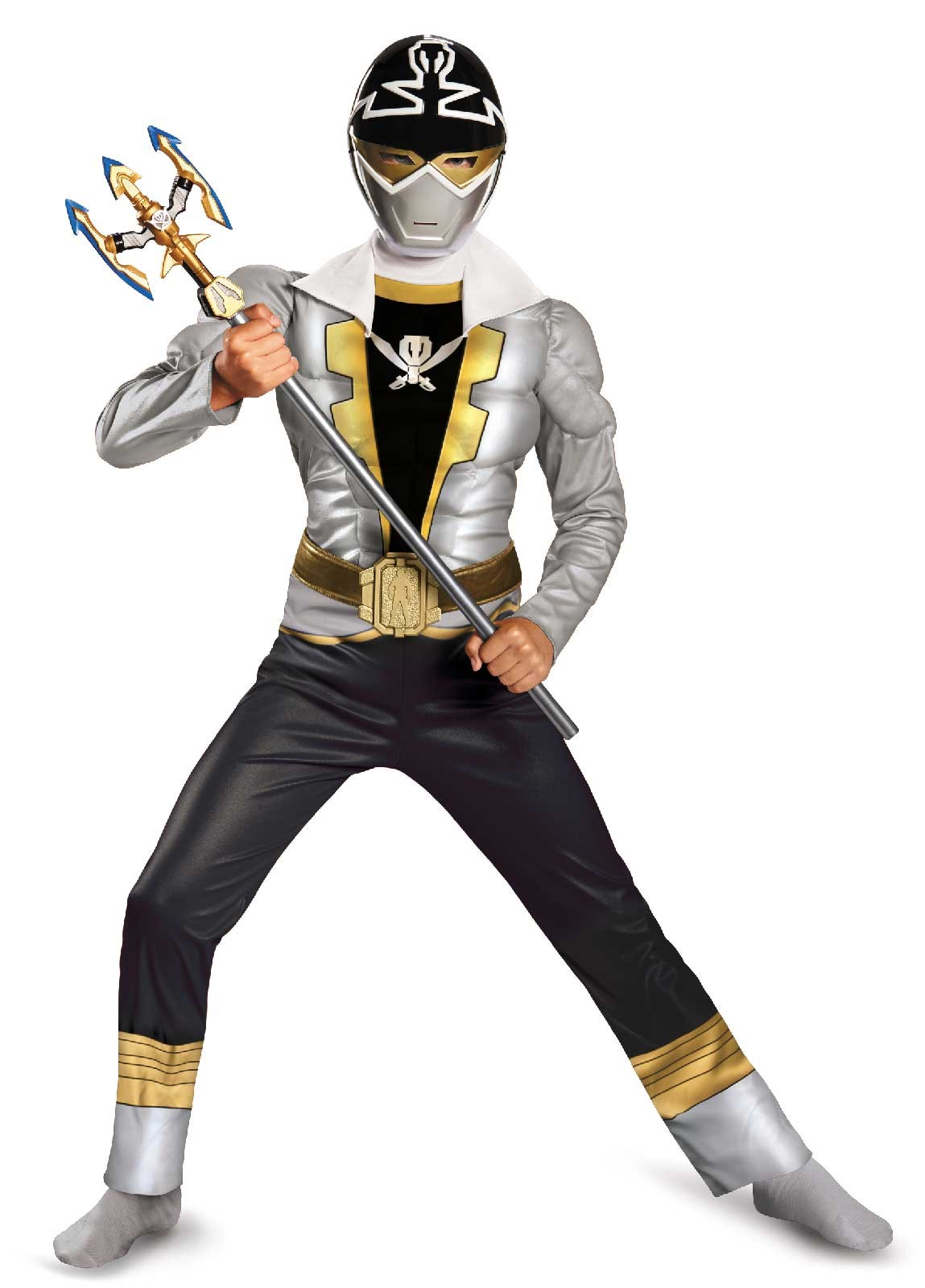 Power Ranger Super Megaforce Special Ranger Silver Muscle Child Costume Small (4-6)