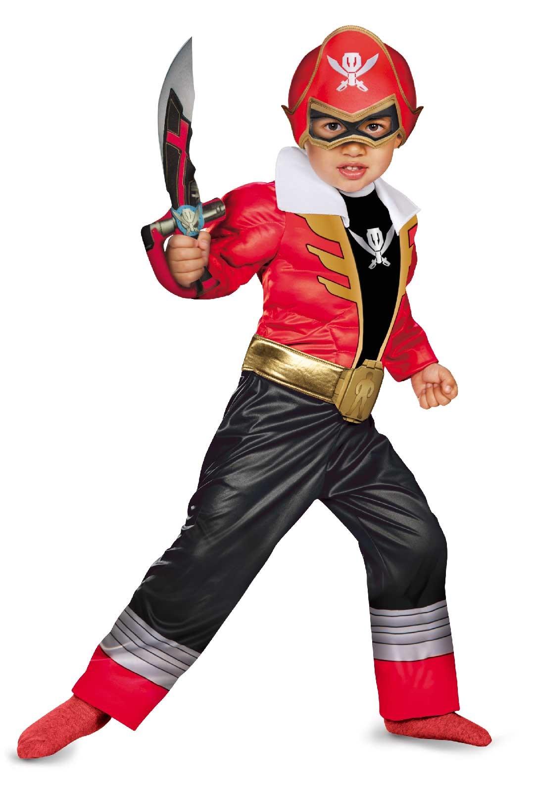 Power Ranger Super Megaforce - Red Ranger Toddler / Child Muscle Costume 3T-4T