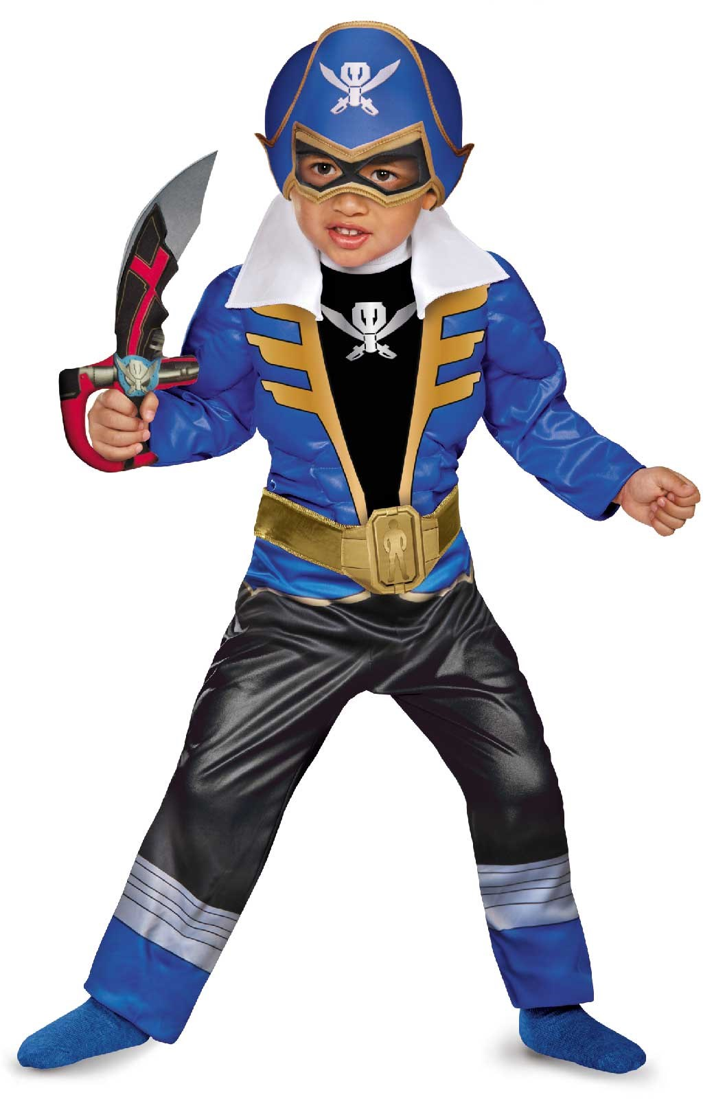 Power Ranger Super Megaforce - Blue Ranger Toddler / Child Muscle Costume 2T