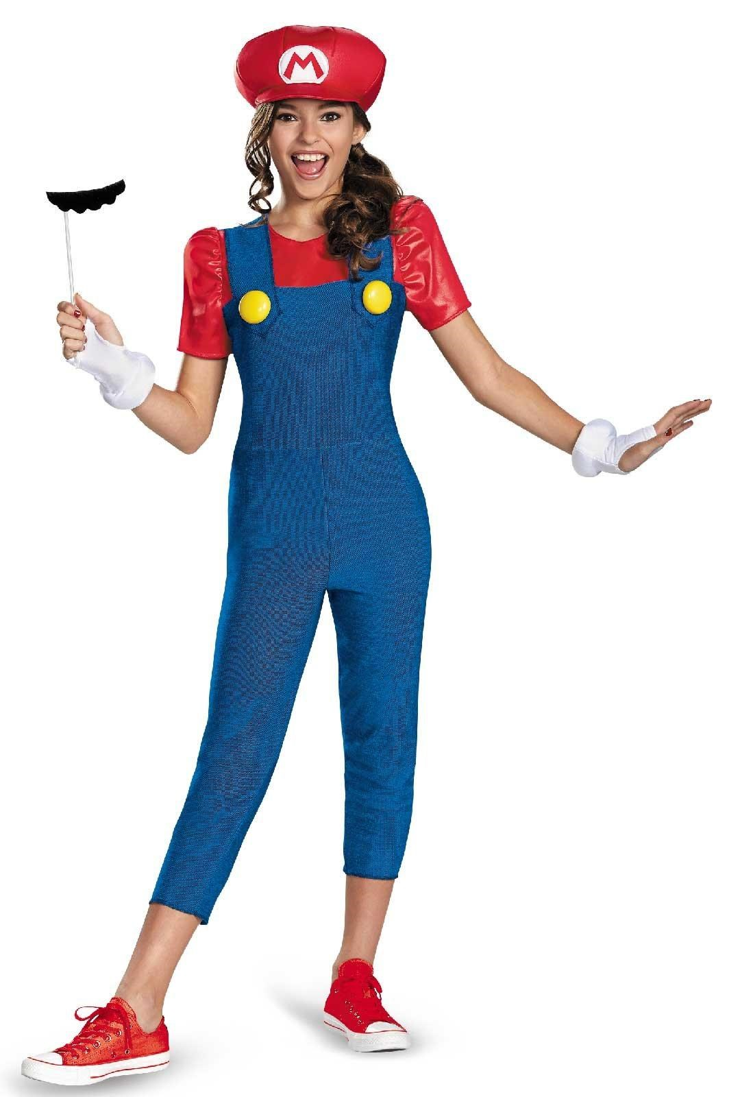 Super Mario Brothers Mario Tween Girl Costume Large (10-12)