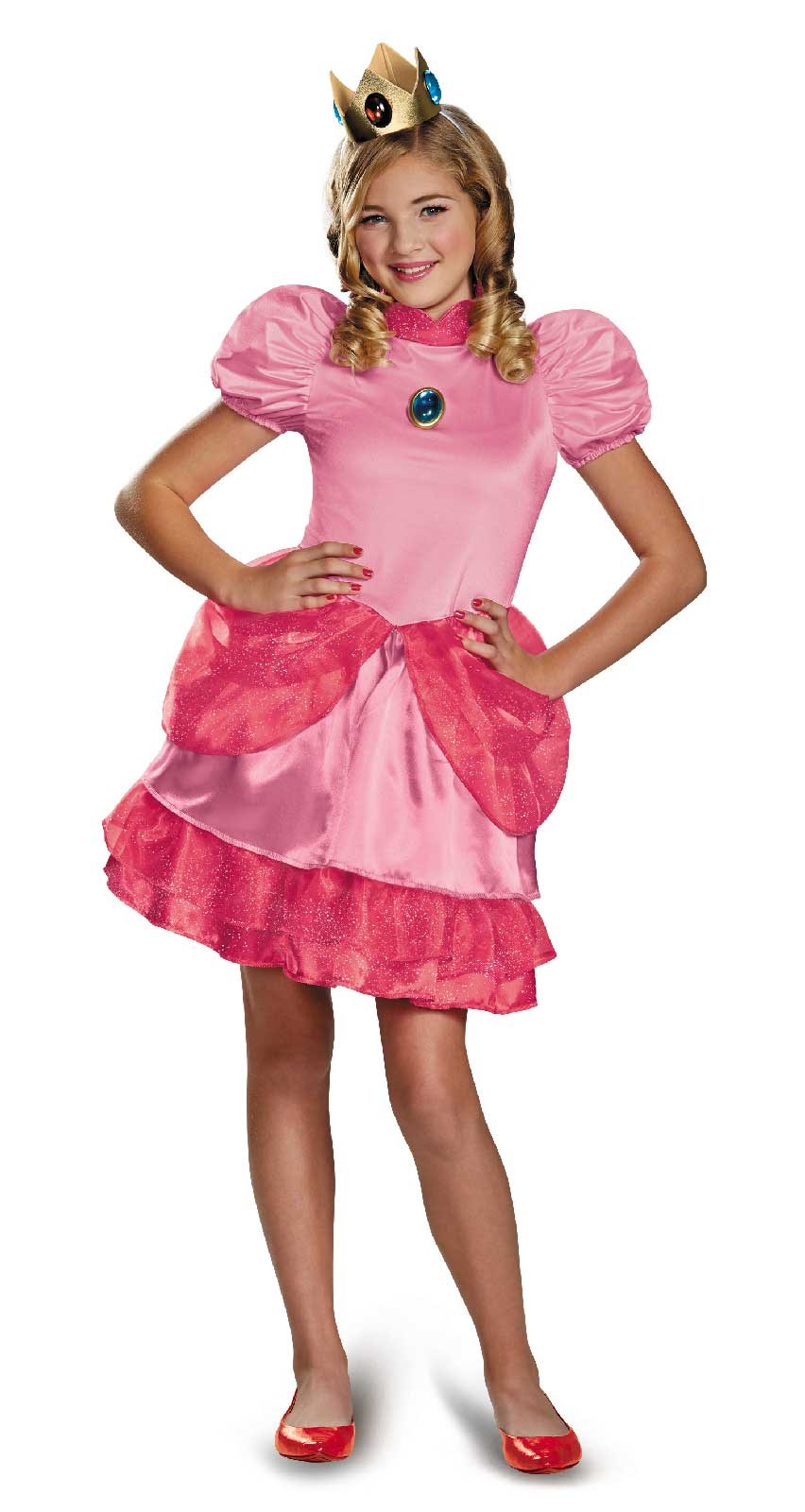 Super Mario Brothers Princess Peach Tween Girl Costume Medium (7-8)