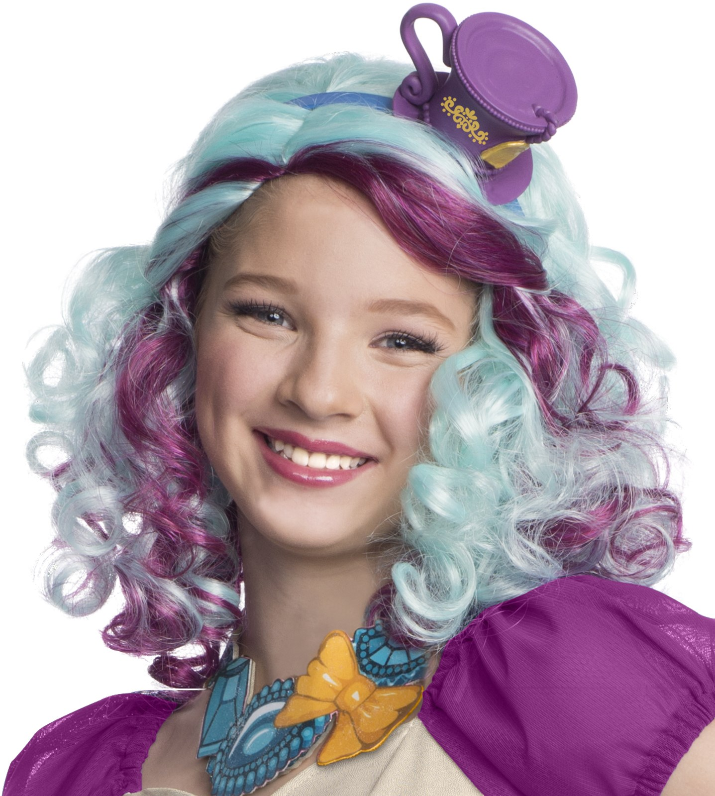 Ever After High Madeline Hatter Wig with Headpiece Standard One-Size