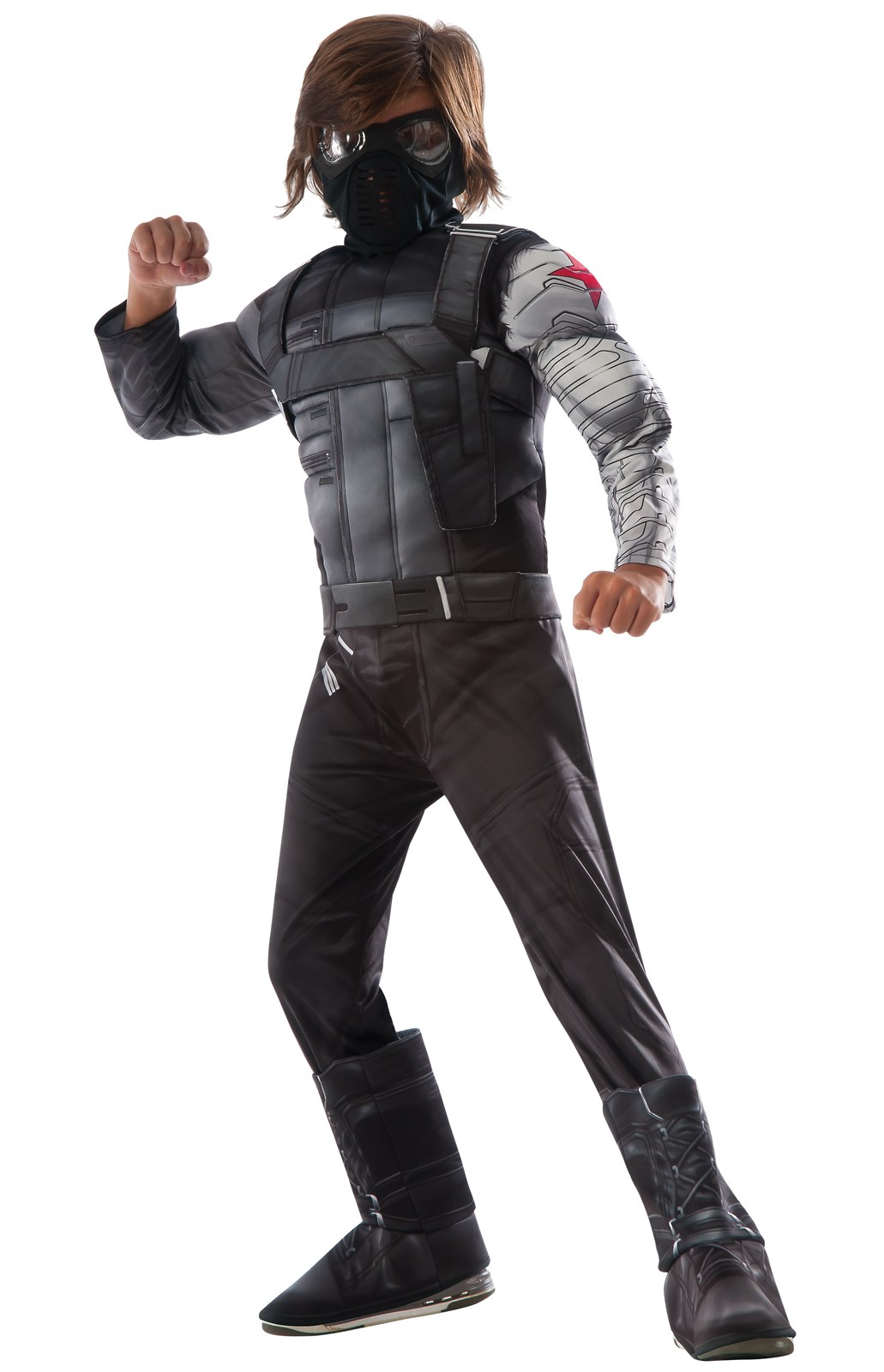 Captain America Winter Soldier - Deluxe Winter Soldier Kids Costume Large (12-14)