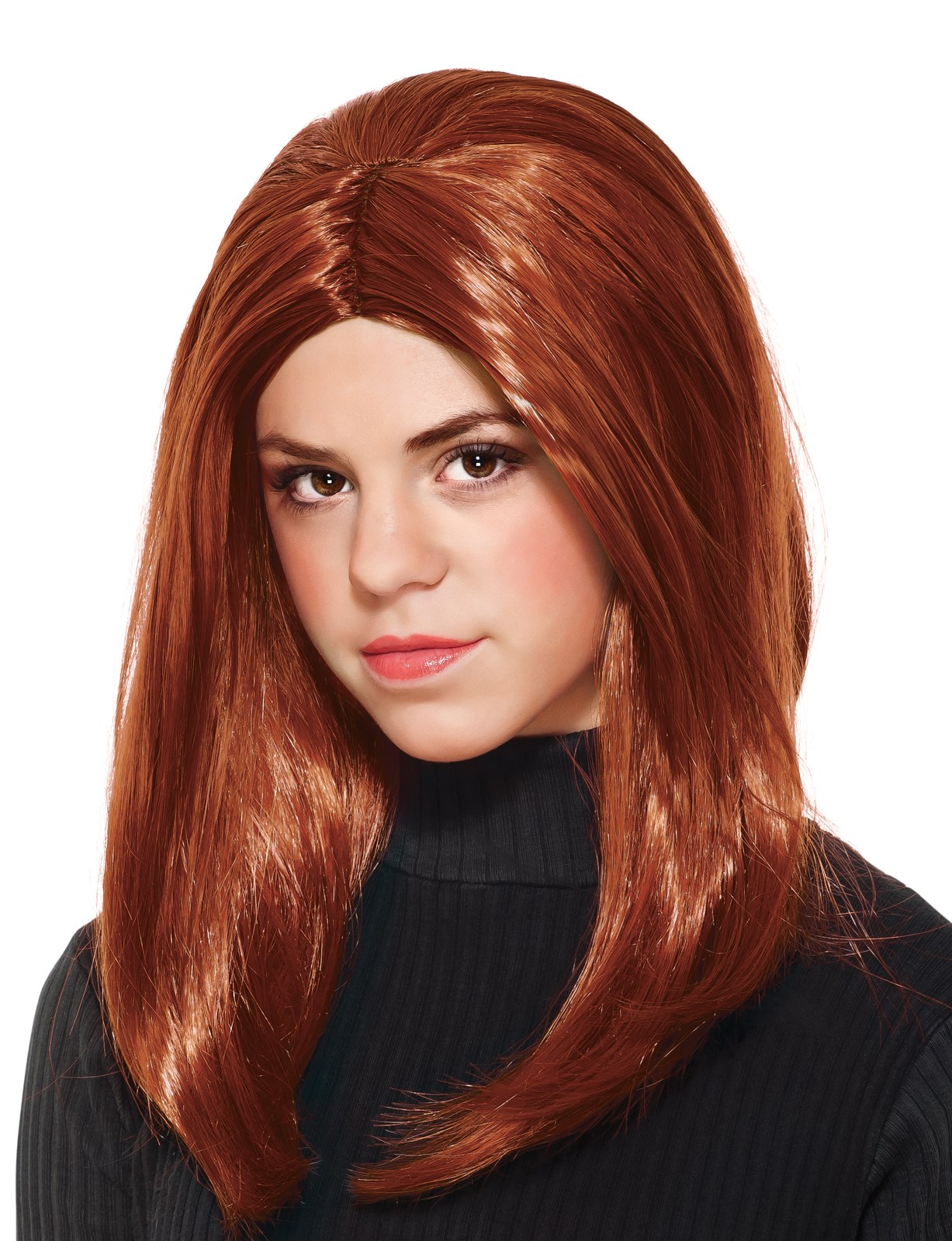 Captain America Winter Soldier - Black Widow Girls Wig Standard One-Size